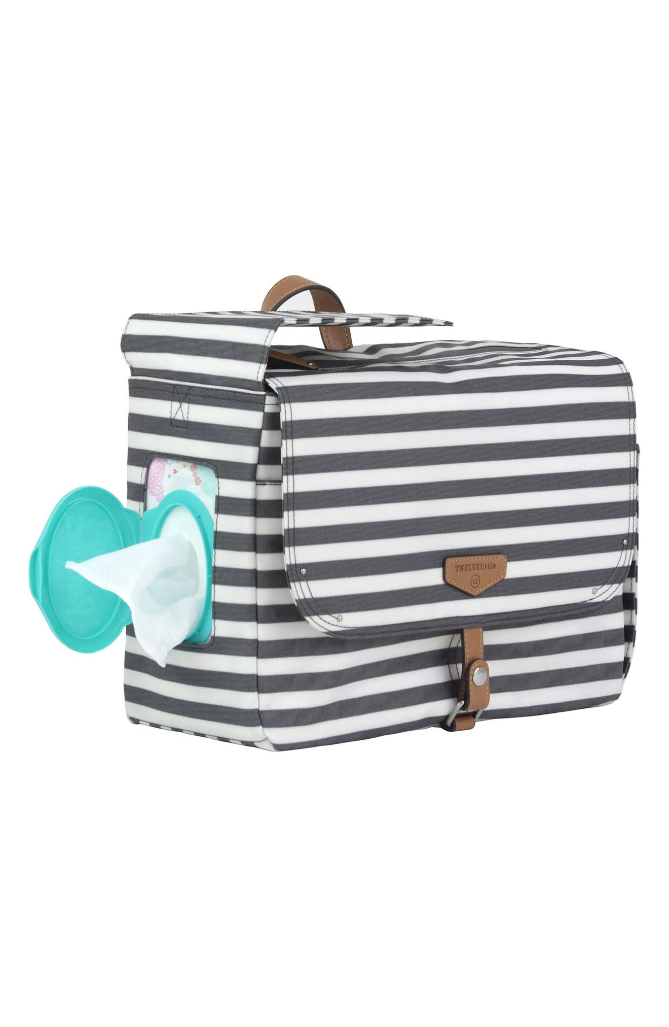 On-the-Go Water Resistant Stroller Caddy,                             Alternate thumbnail 5, color,                             Stripe
