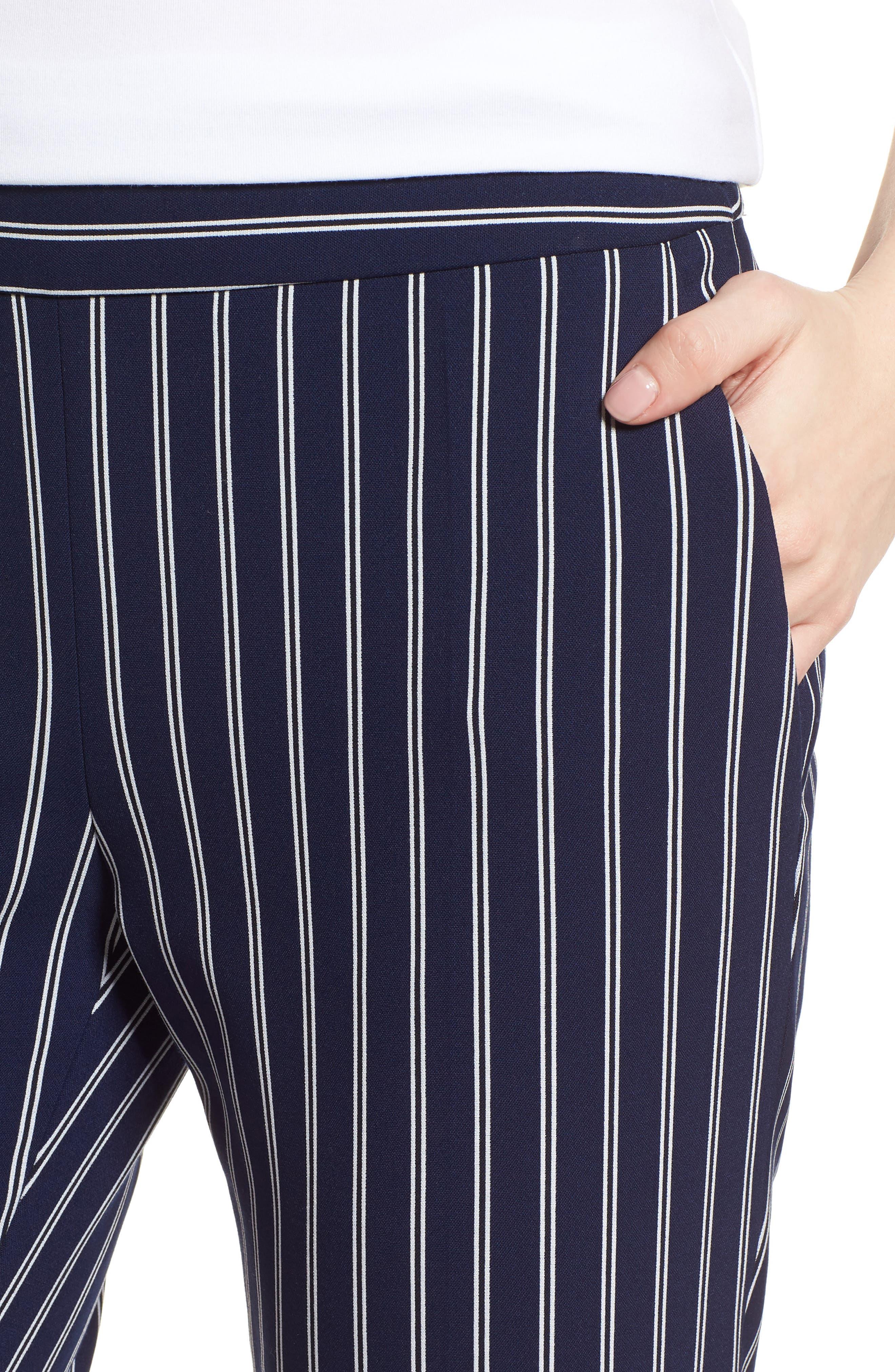 Tebella Stripe Pants,                             Alternate thumbnail 4, color,                             Blue Fantasy