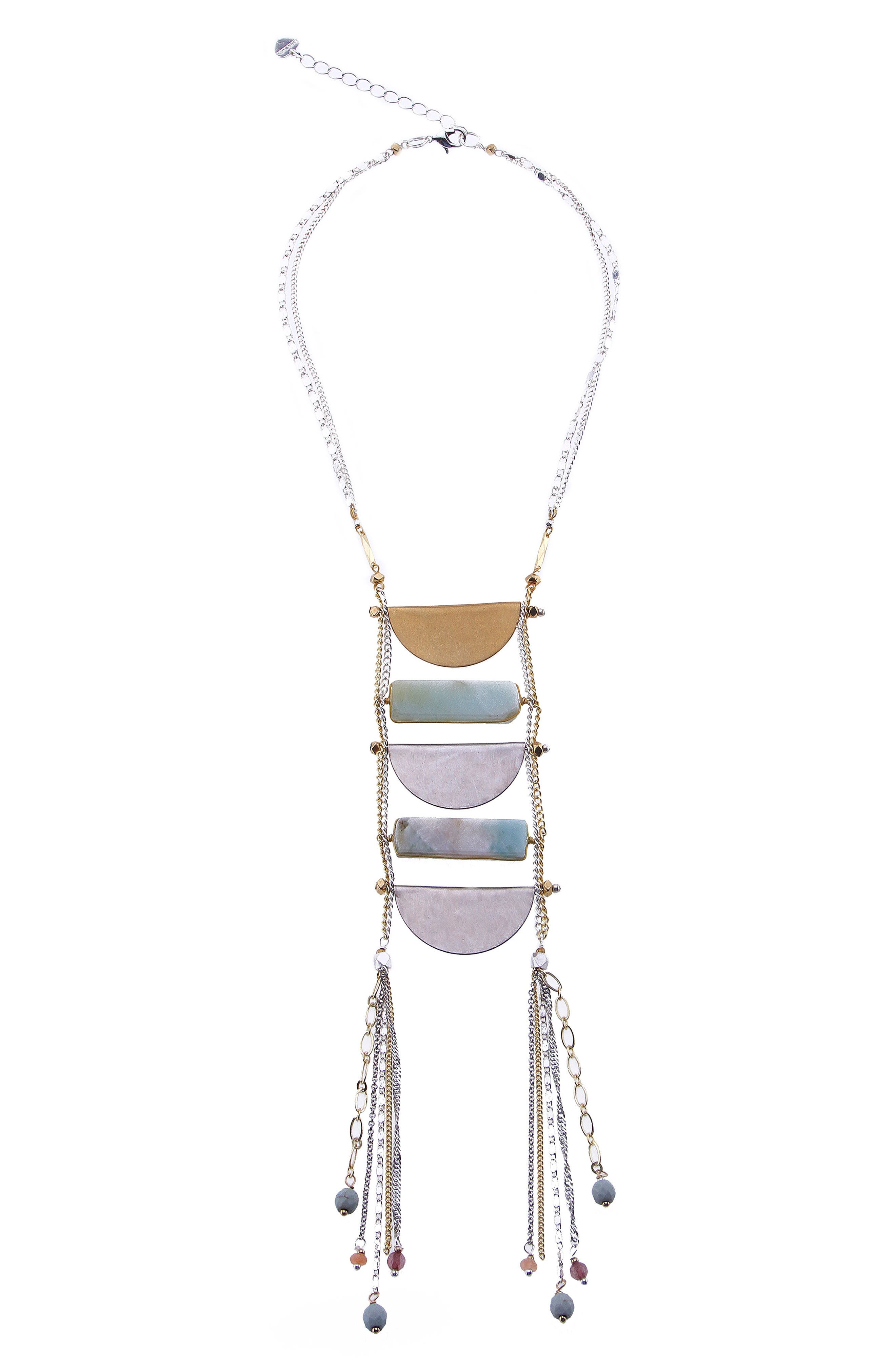 Lily Amazonite Statement Necklace,                             Main thumbnail 1, color,                             Aqua