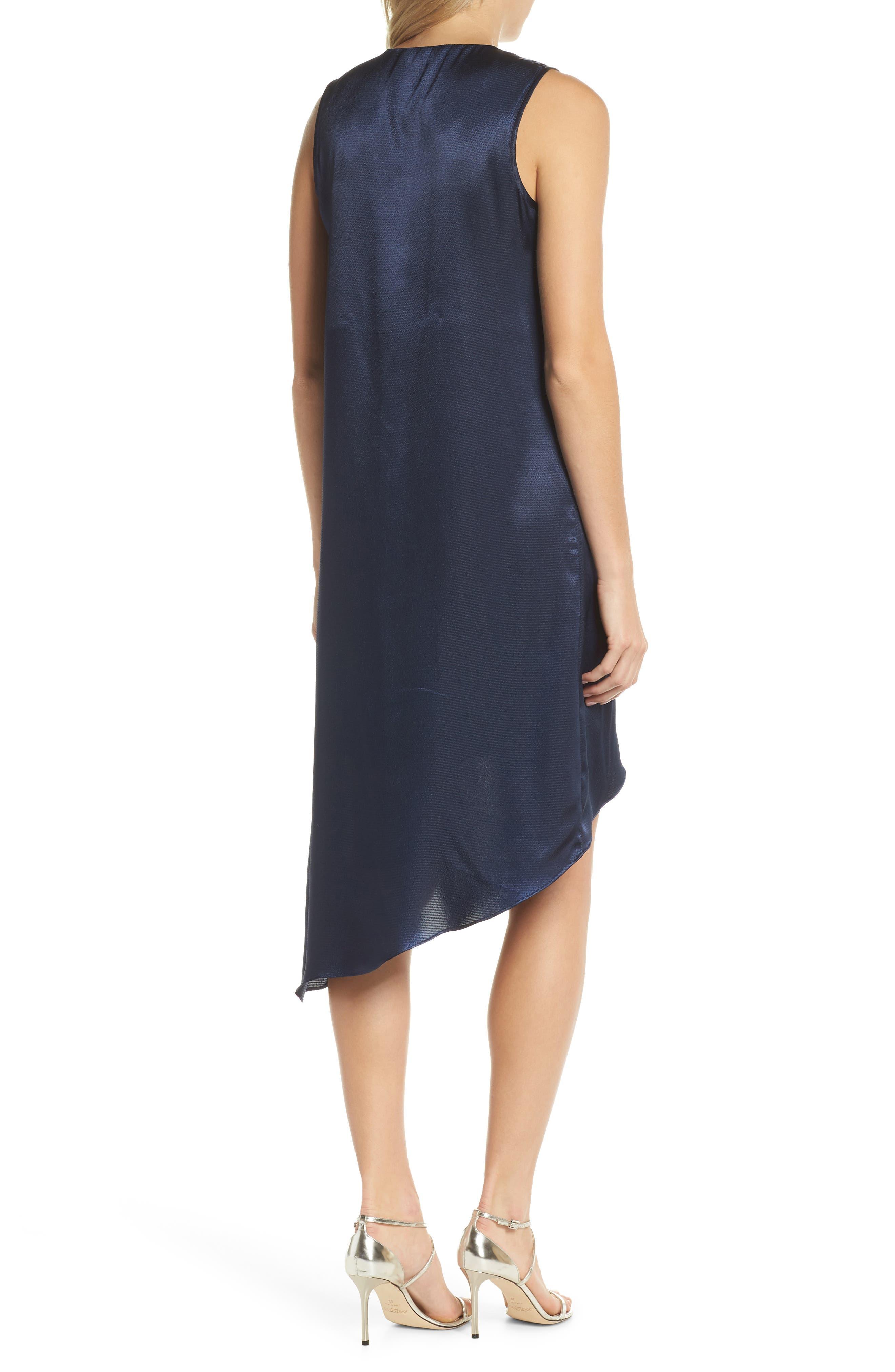 Asymmetrical Sleeveless Trapeze Dress,                             Alternate thumbnail 2, color,                             Blue Moon
