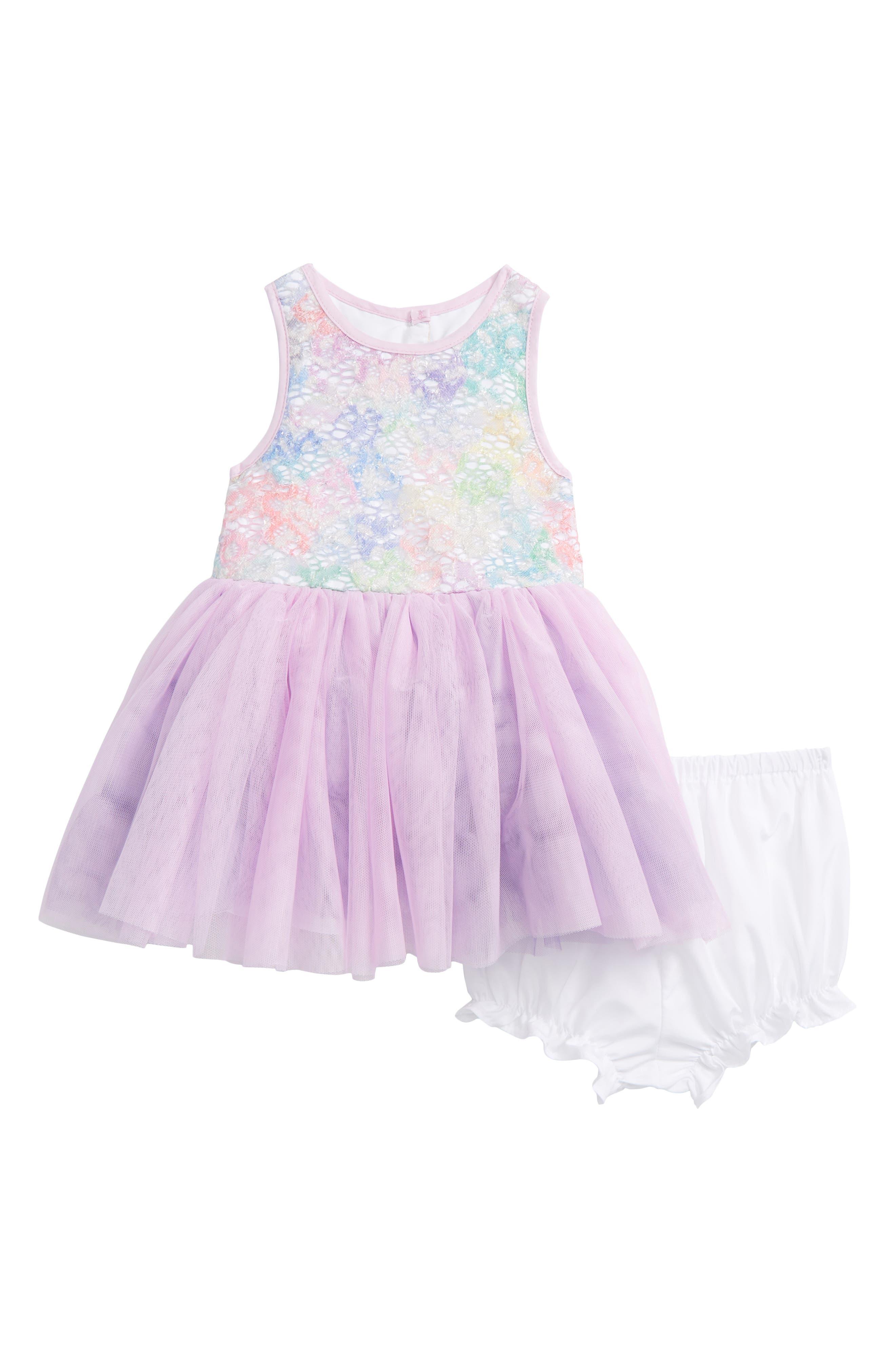Alternate Image 1 Selected - Pippa & Julie Rainbow Tutu Dress (Baby Girls)