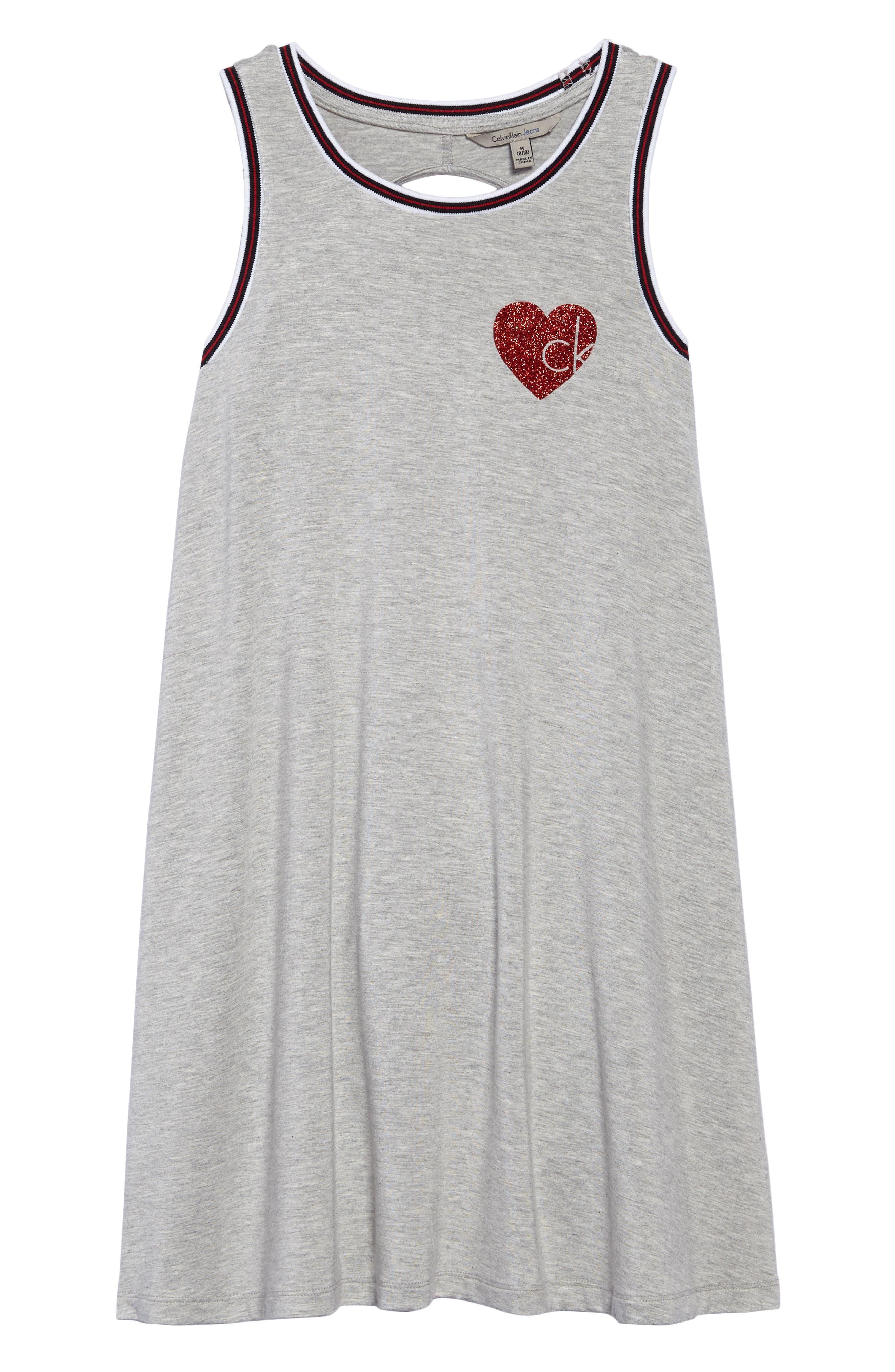 Athleisure Sleeveless Dress,                             Main thumbnail 1, color,                             Grey Heather