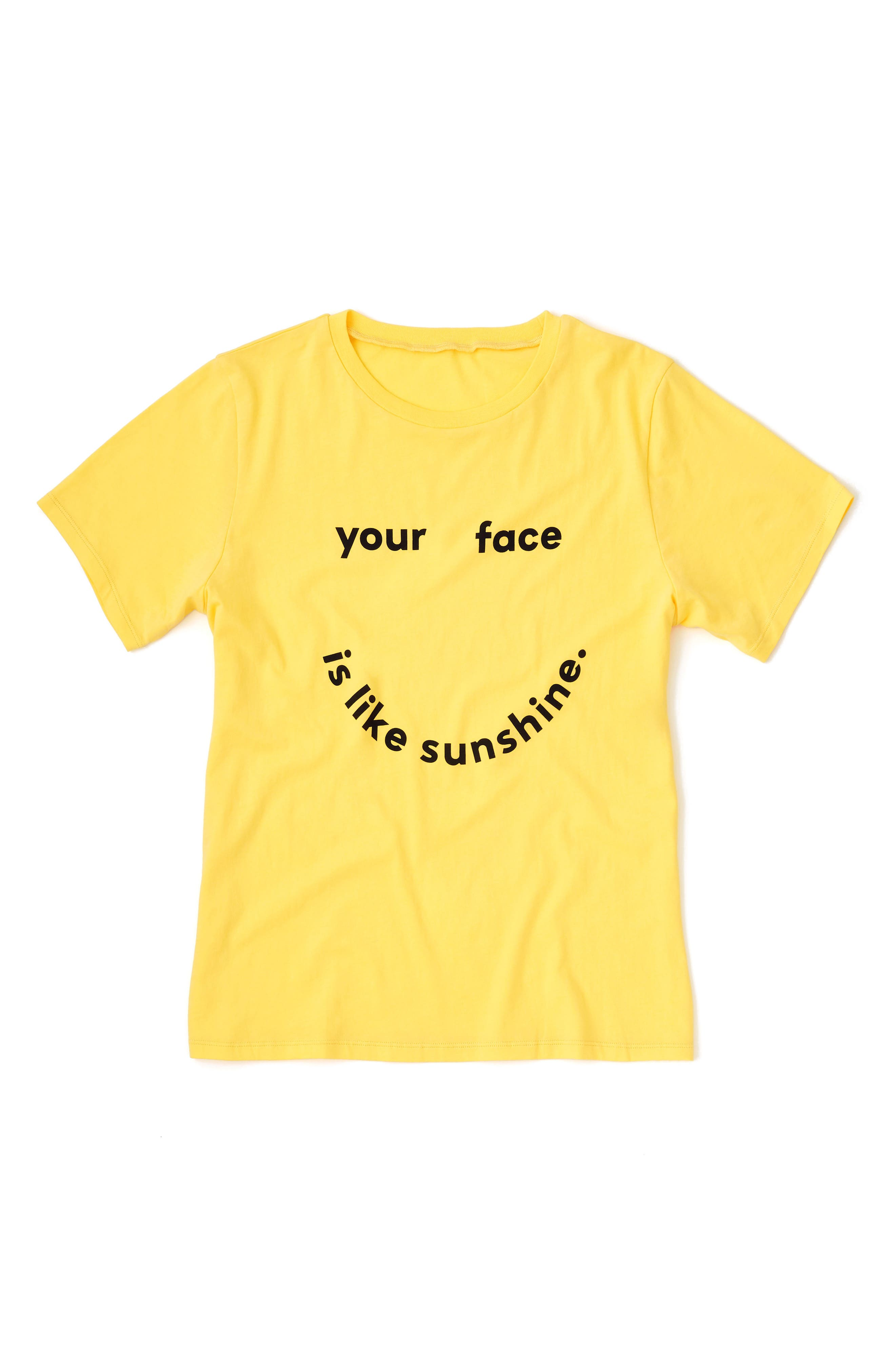 Your Face Is Like Sunshine Classic Tee,                             Alternate thumbnail 2, color,                             Butter Yellow