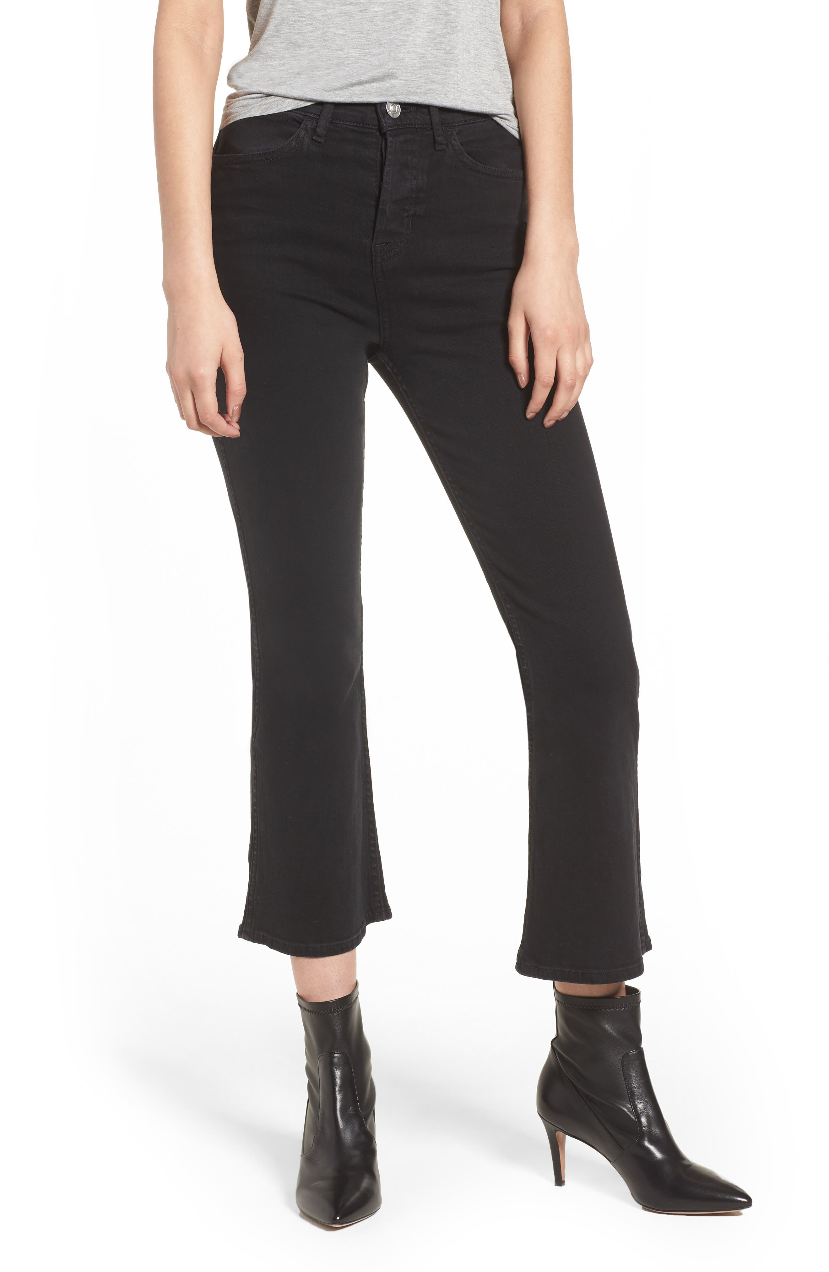 Holly High Waist Crop Flare Jeans,                             Main thumbnail 1, color,                             Ambiance