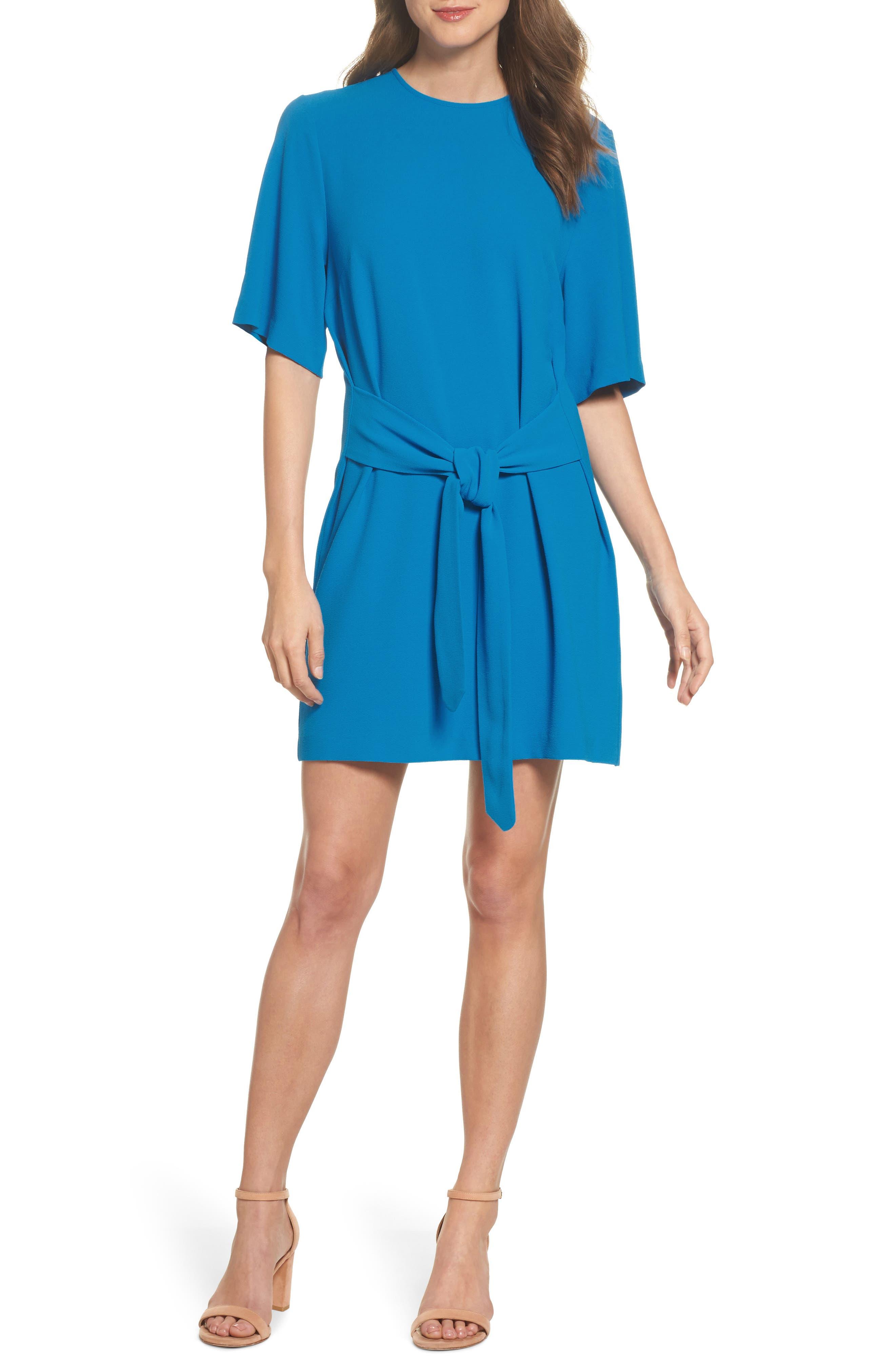 Green Elbow Length Dress