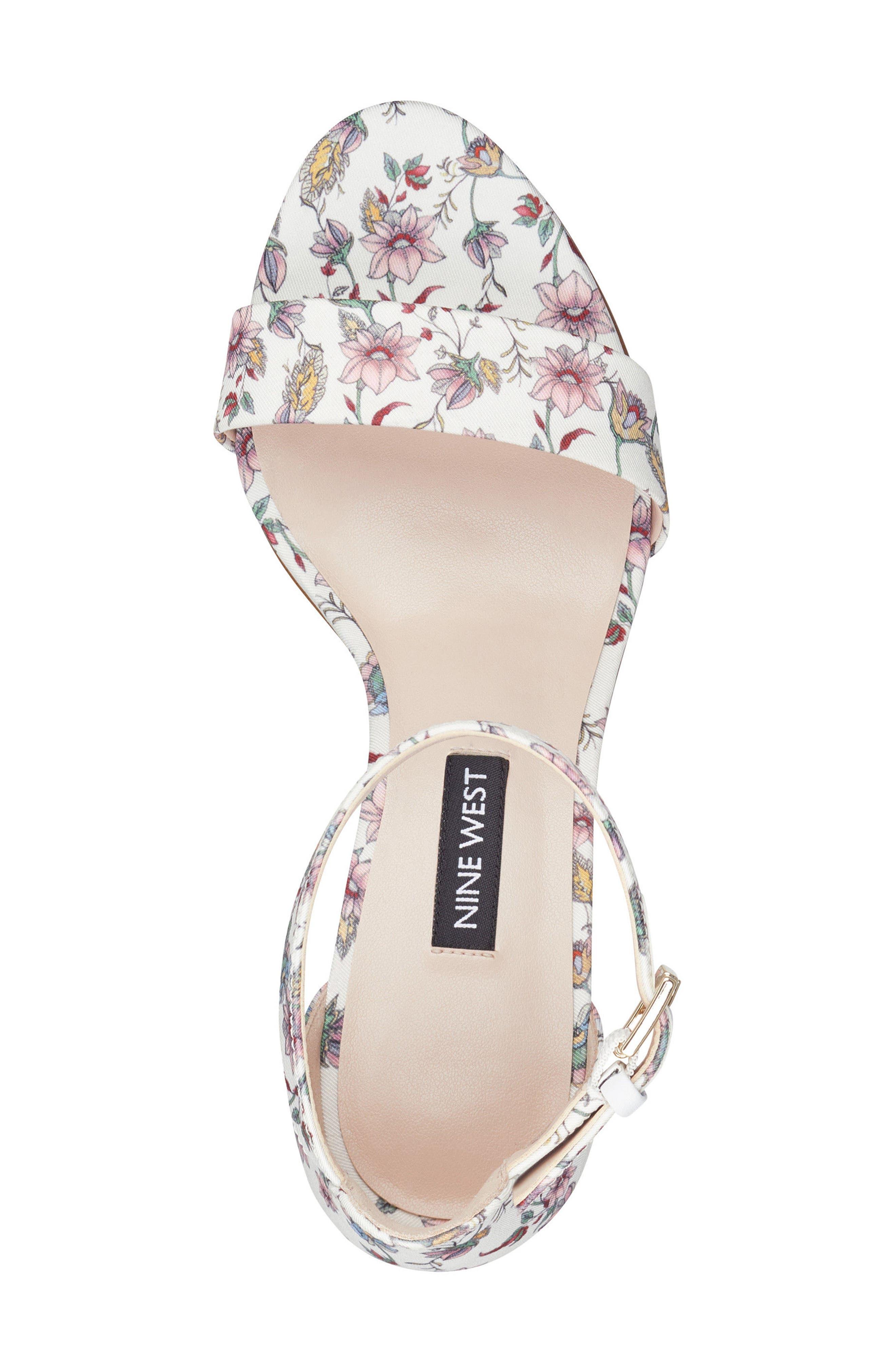 Pruce Ankle Strap Sandal,                             Alternate thumbnail 5, color,                             White Multi