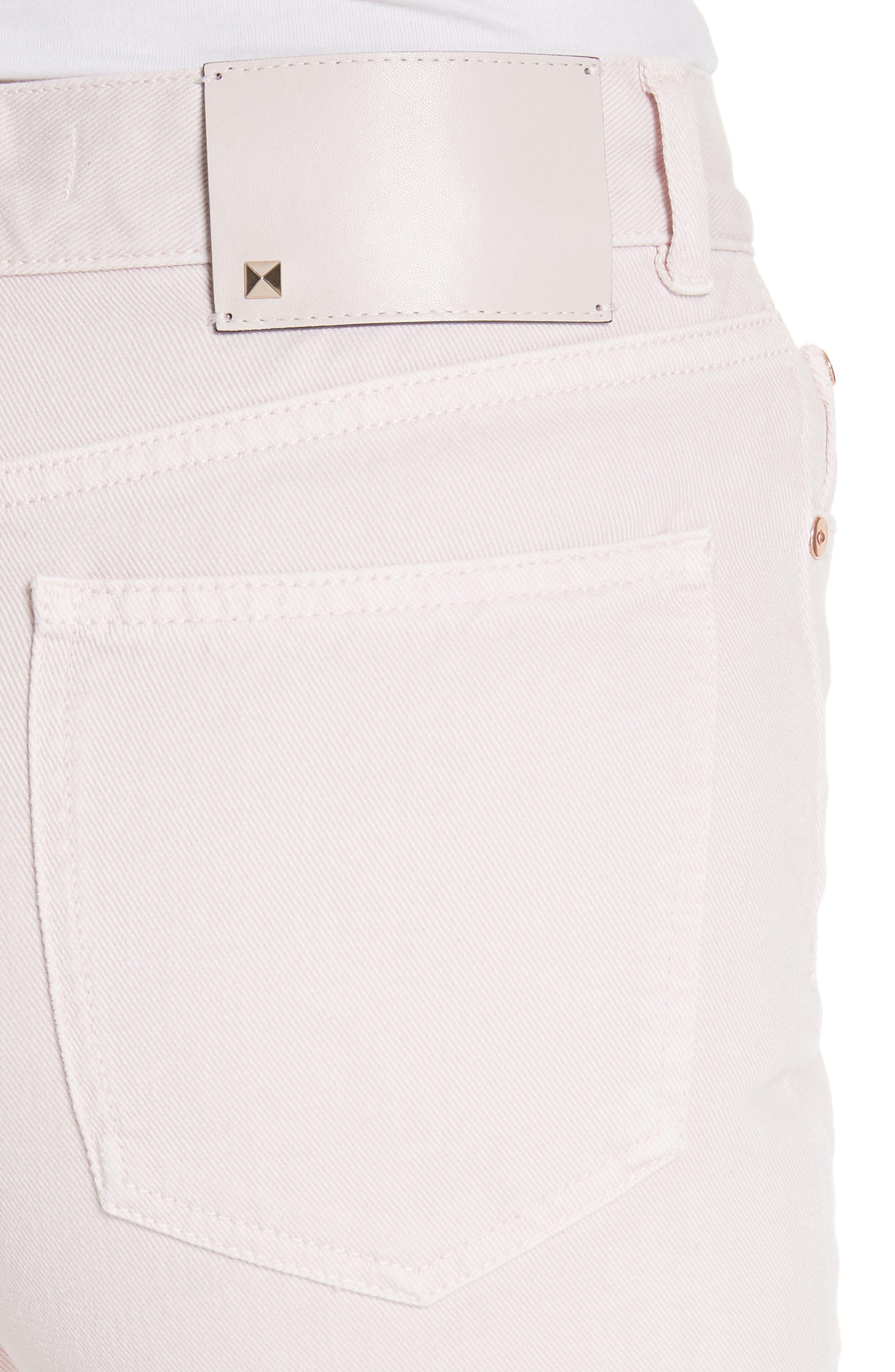 Straight Leg Jeans,                             Alternate thumbnail 4, color,                             Lilac