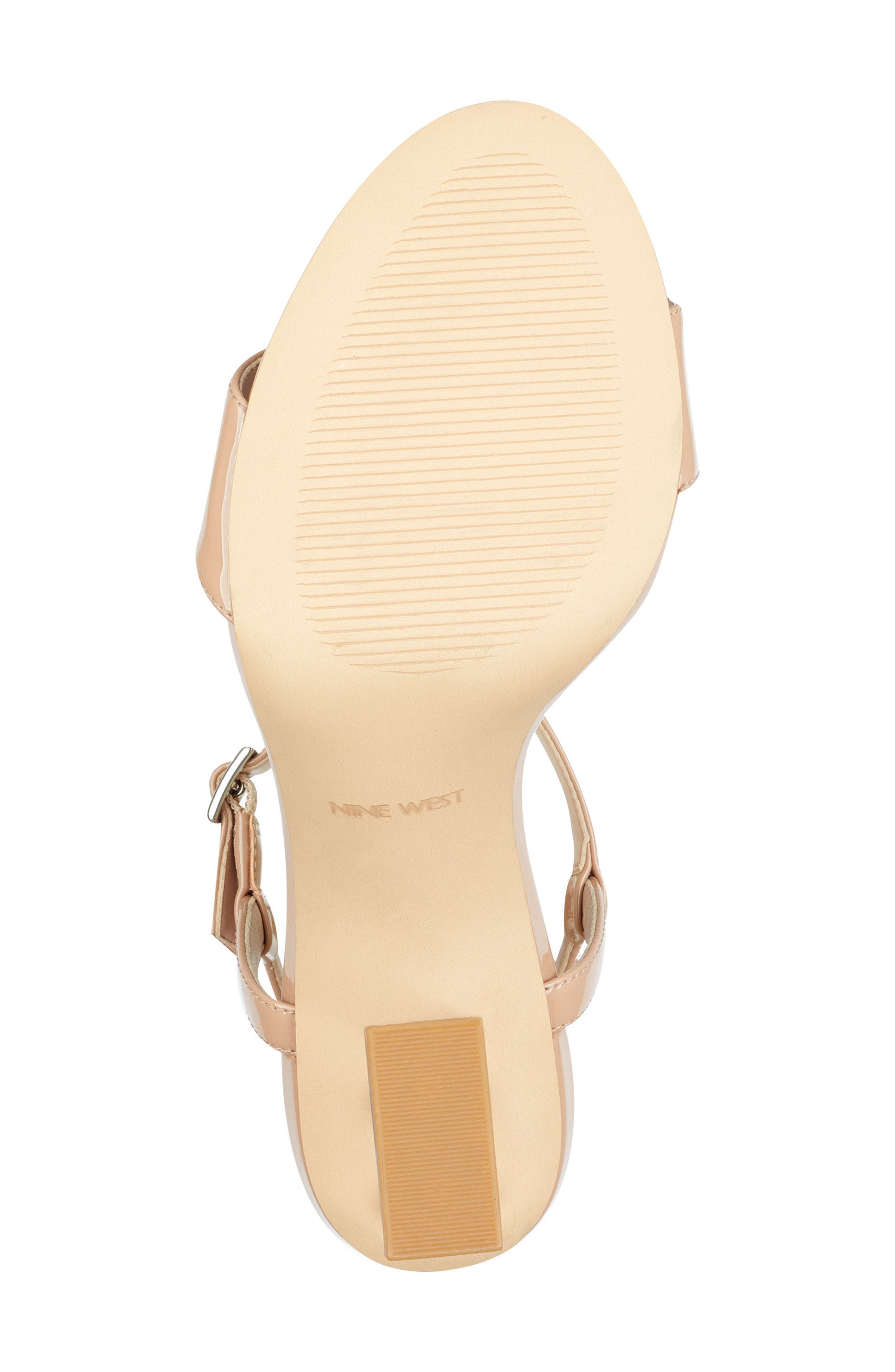 Feisty Ankle Strap Sandal,                             Alternate thumbnail 6, color,                             Nude Suede