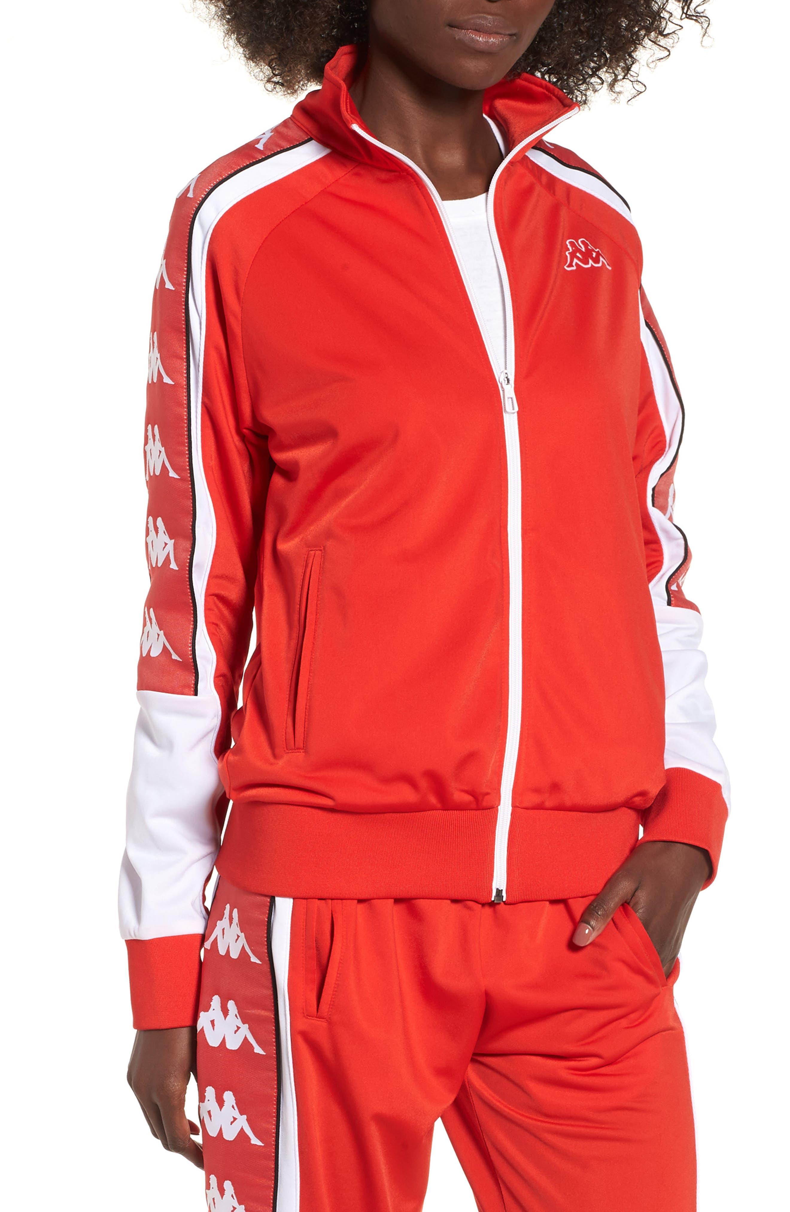 222 Banda 10 Anay Jacket,                             Main thumbnail 1, color,                             Red Flame -White
