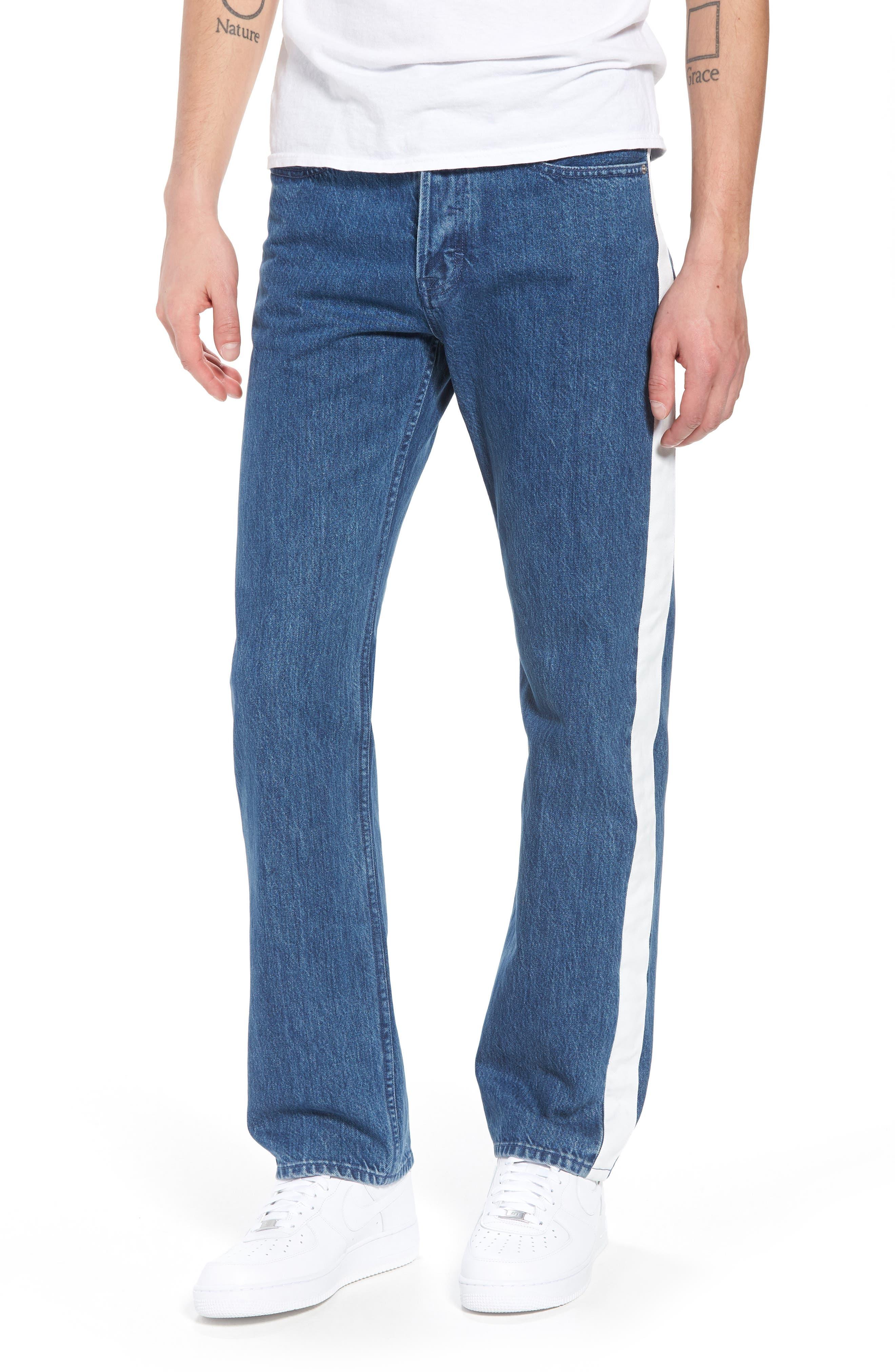Calvin Klein Straight Leg Tape Stripe Jeans