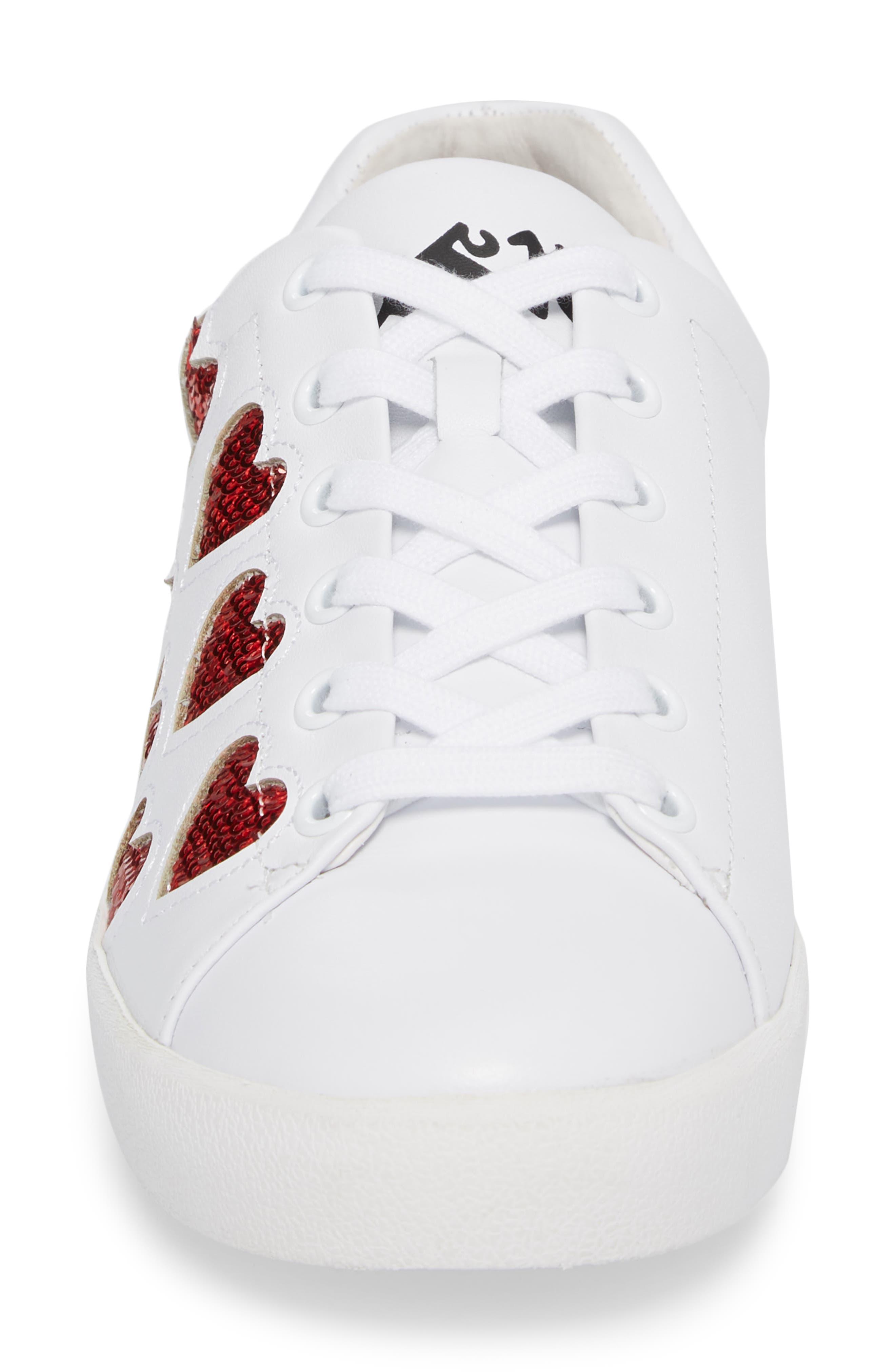 Nikita Sneaker,                             Alternate thumbnail 4, color,                             White/ Red
