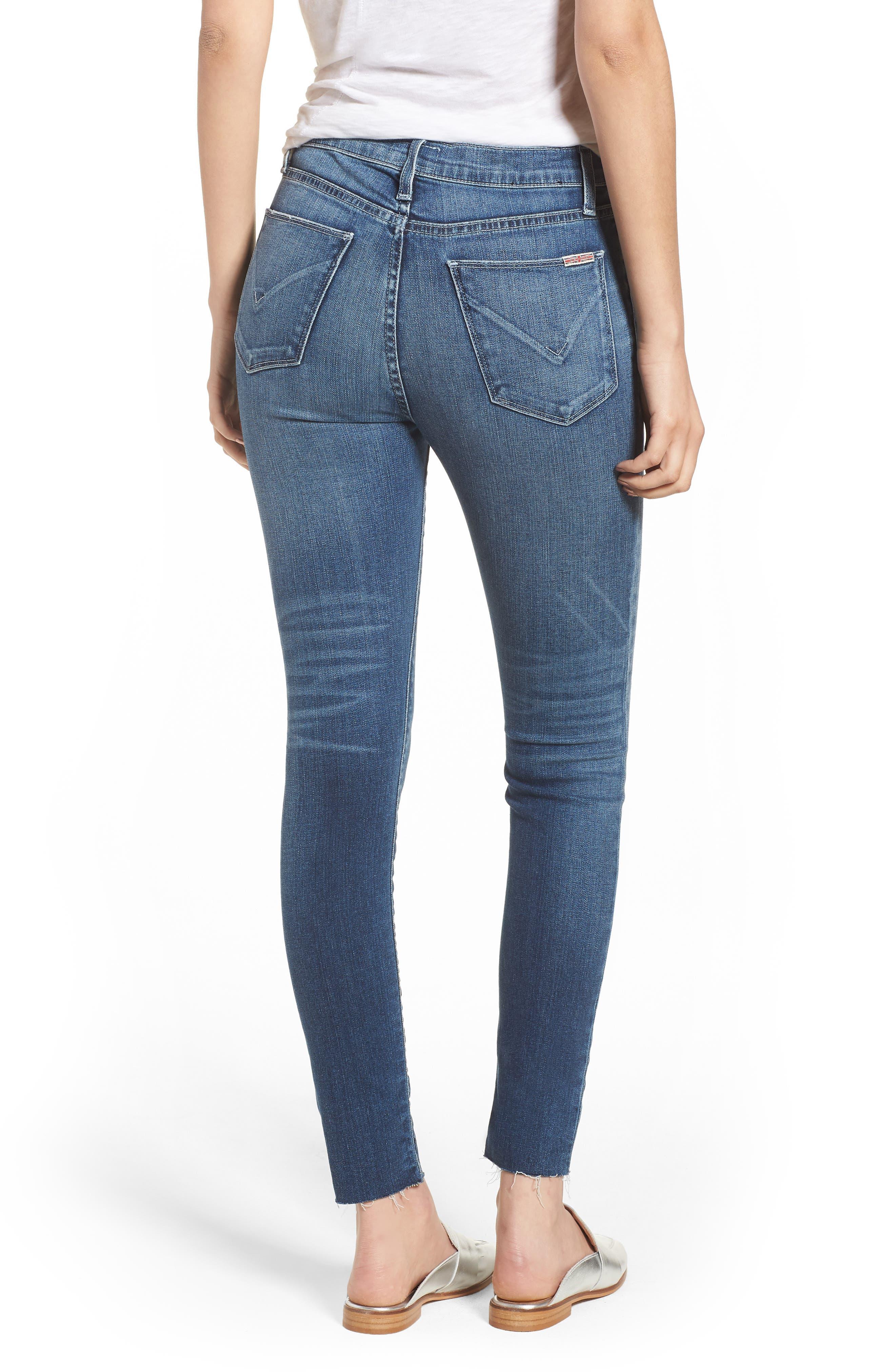 Hudson Barbara High Waist Ankle Skinny Jeans,                             Alternate thumbnail 2, color,                             Contender