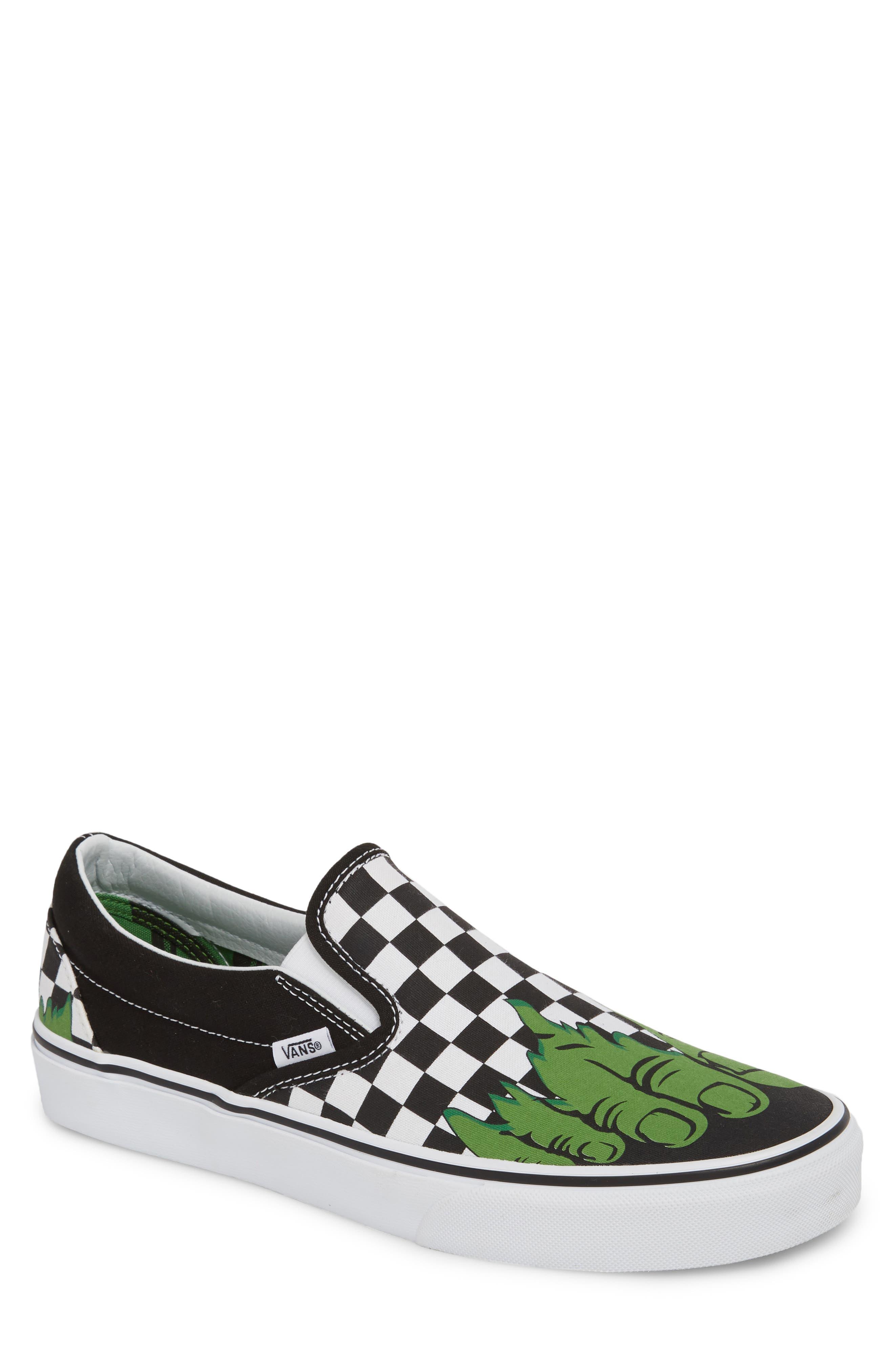 Marvel UA Classic Slip-On Sneaker,                         Main,                         color, Checkerboard Textile