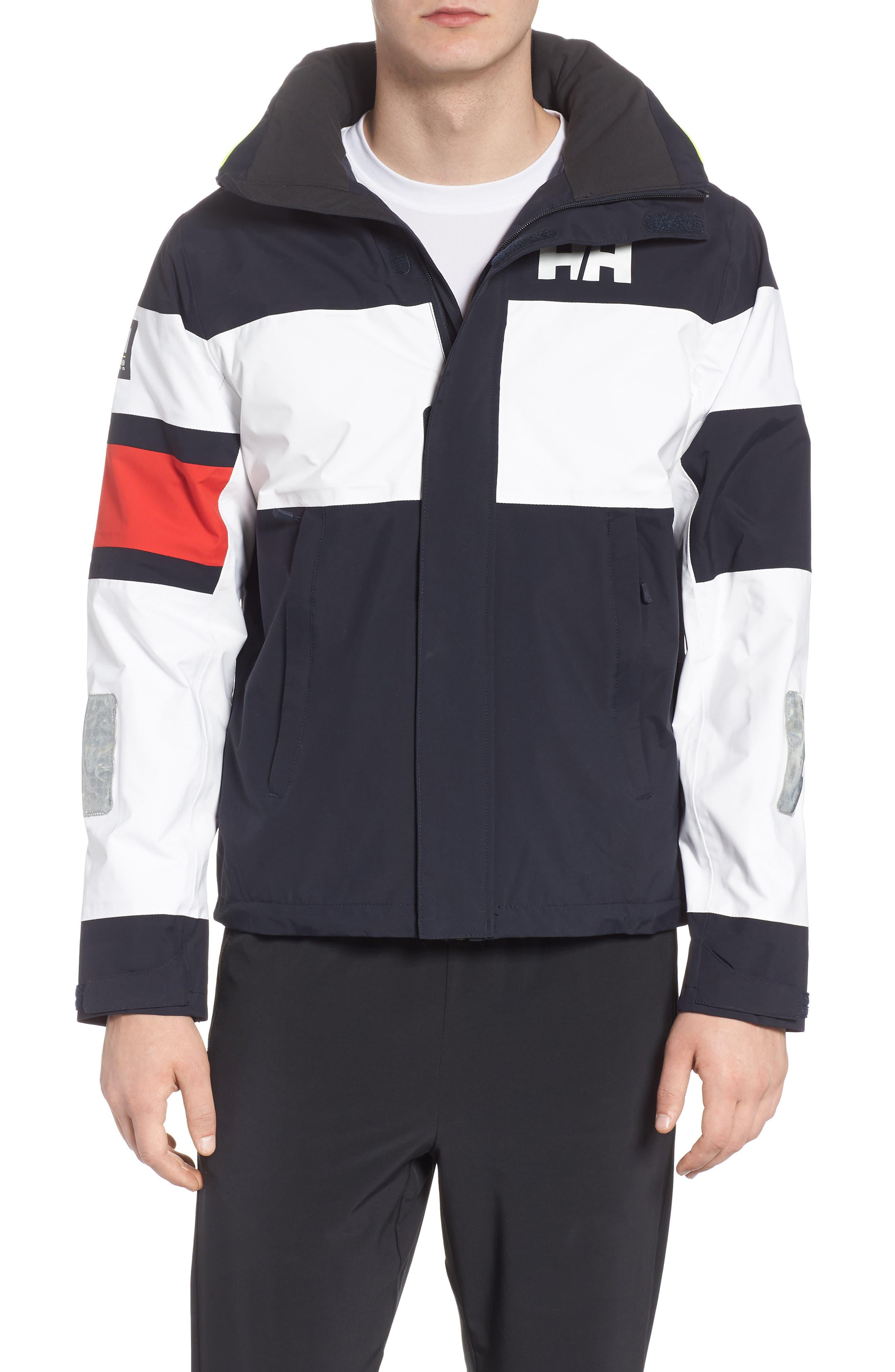 Salt Light Hooded Jacket,                             Main thumbnail 1, color,                             Navy