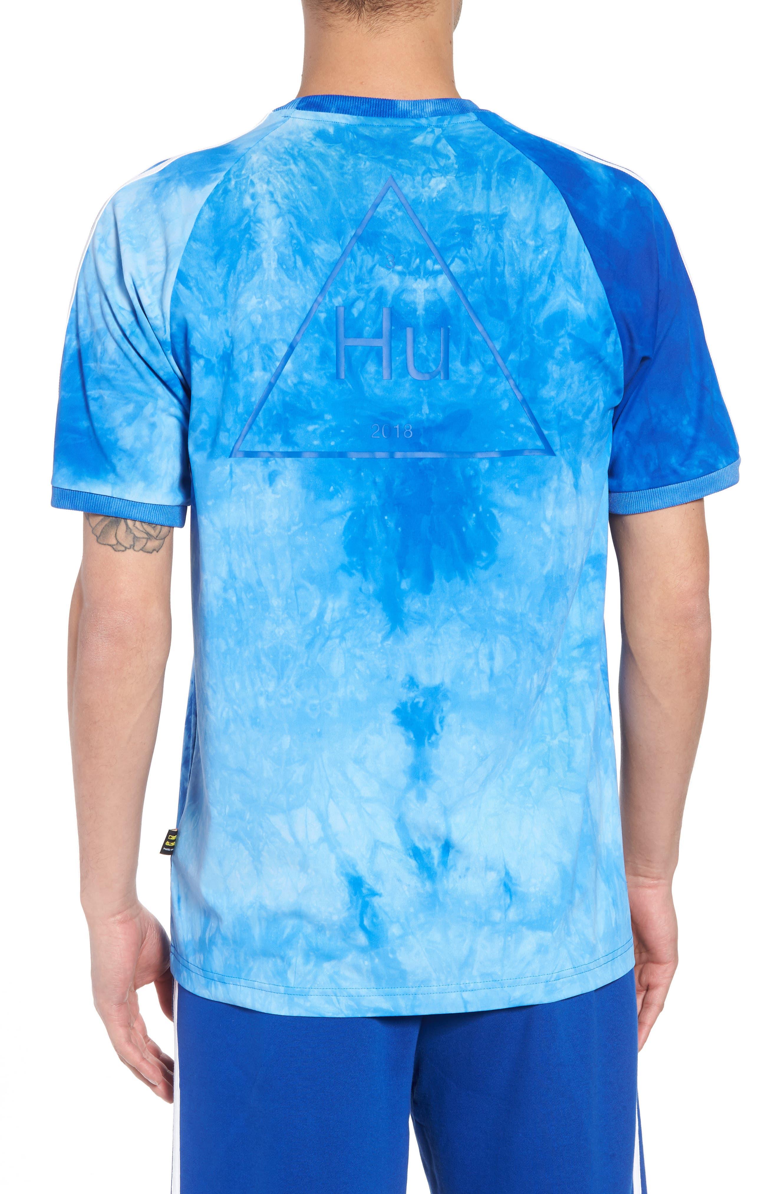 adidas Hu Holi Jersey T-Shirt,                             Alternate thumbnail 2, color,                             Blue