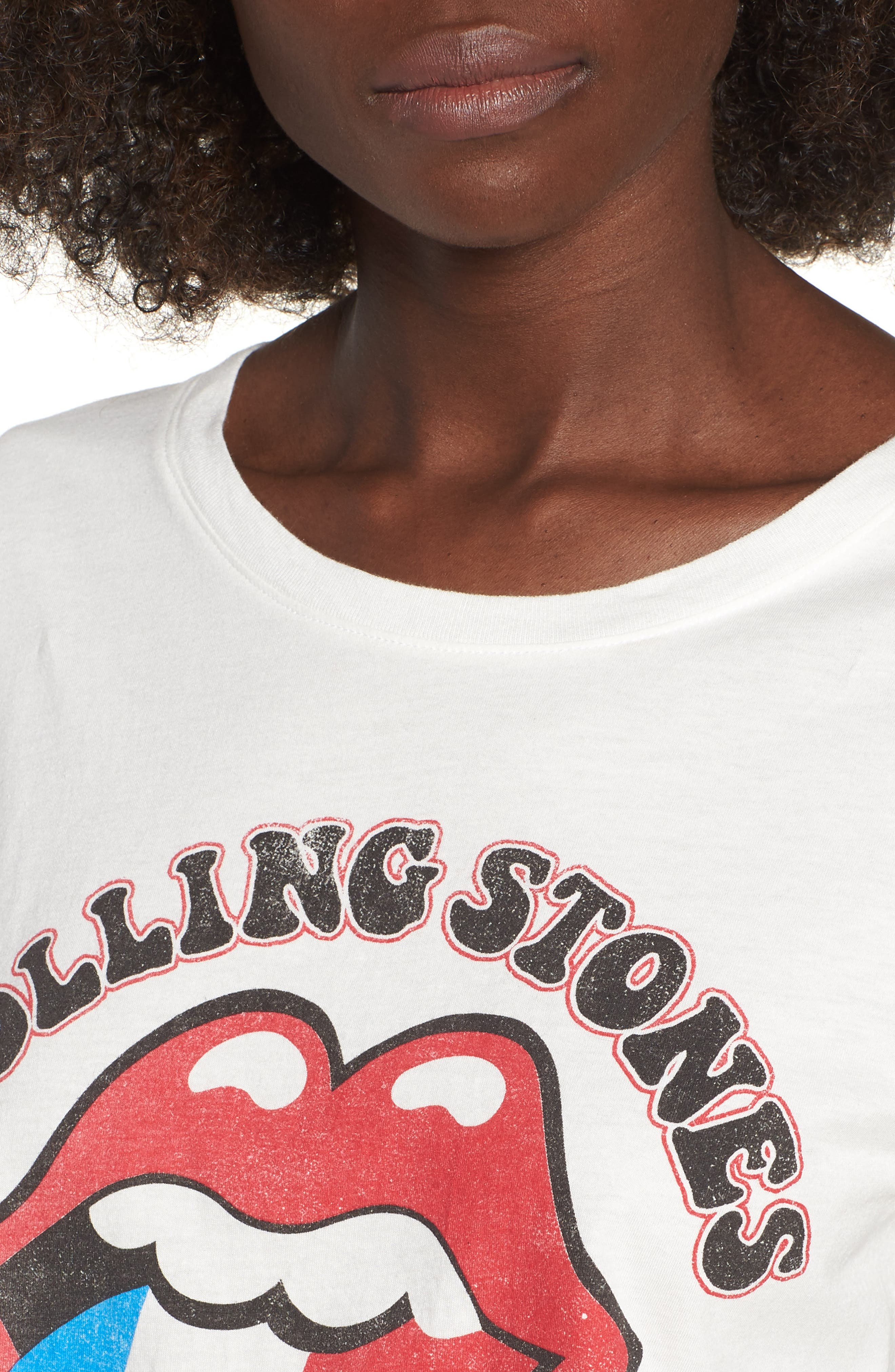 Rolling Stones France Tee,                             Alternate thumbnail 4, color,                             Vintage White