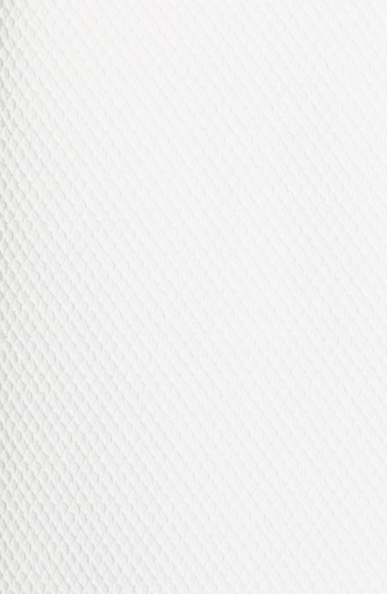 Textured Stretch Cotton Blend Blazer,                             Alternate thumbnail 5, color,                             Soft White