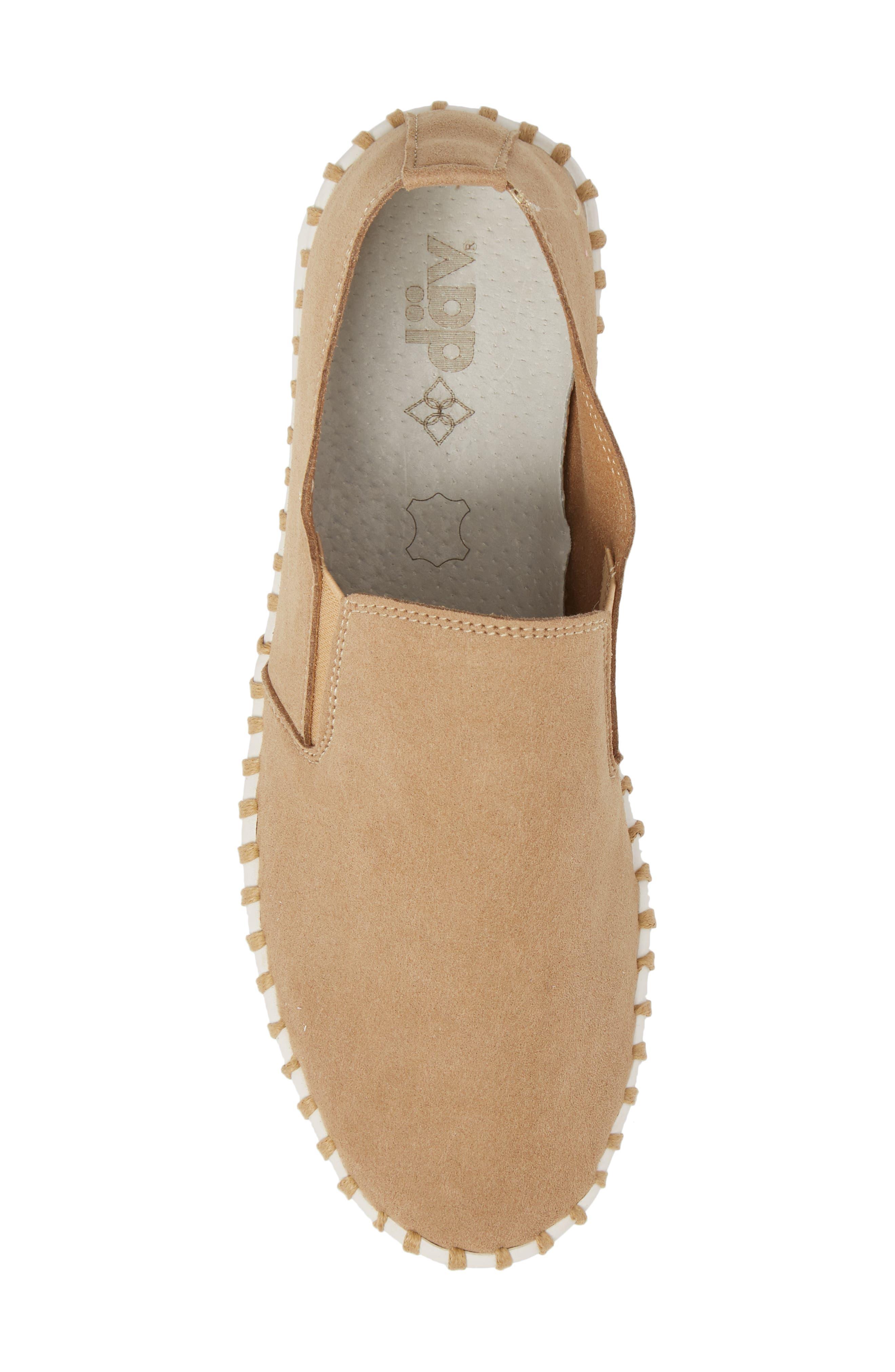 Salinas Waterproof Slip-On Sneaker,                             Alternate thumbnail 5, color,                             Tan Fabric