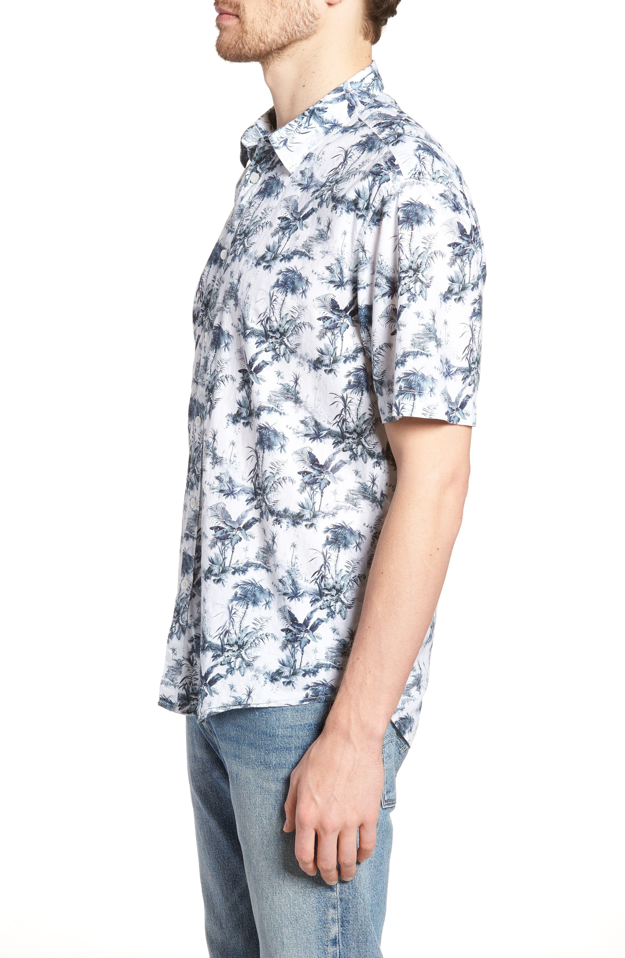 Waiki Regular Fit Short Sleeve Sport Shirt,                             Alternate thumbnail 4, color,                             White