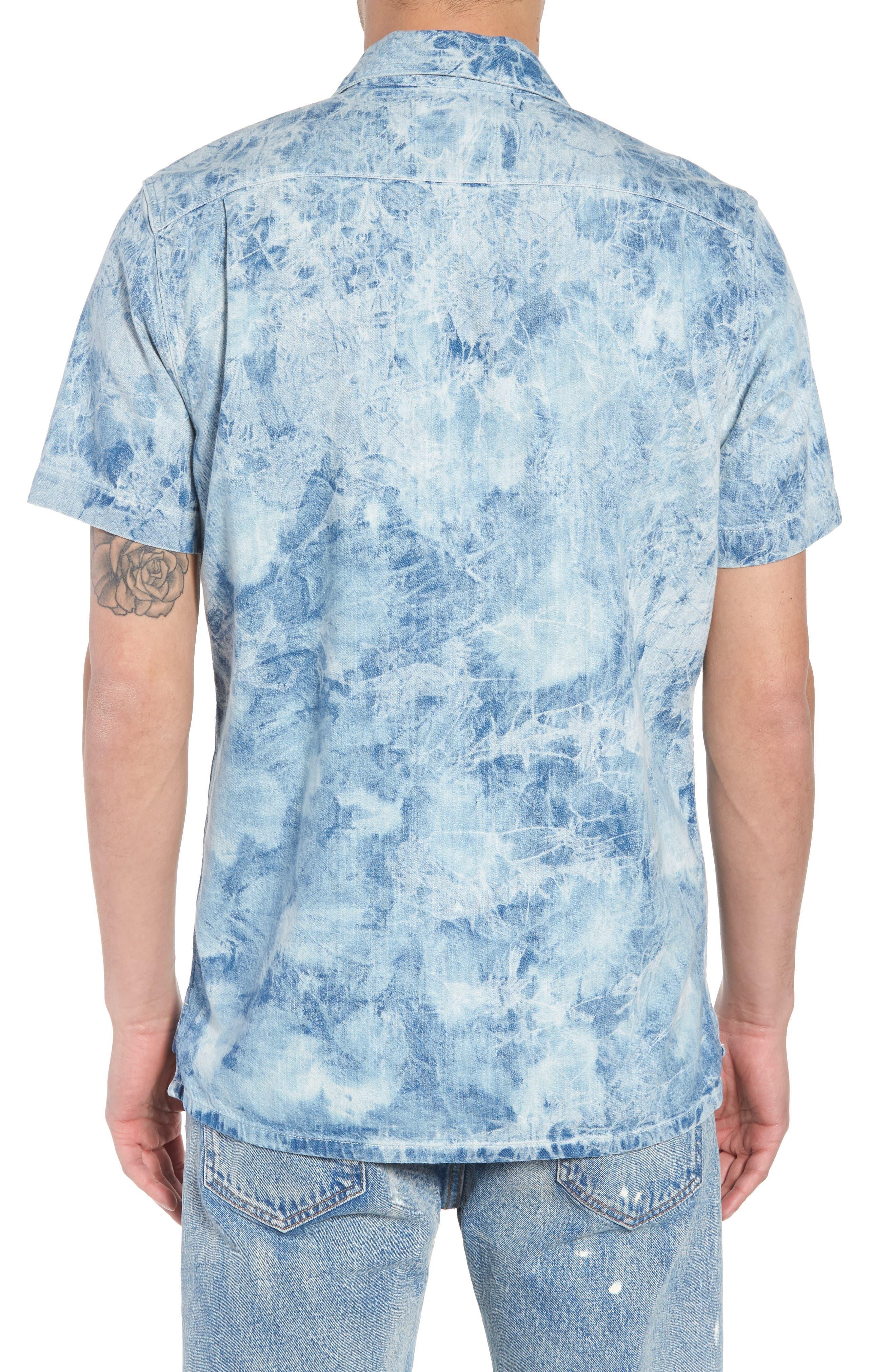 Hawaiian Shirt,                             Alternate thumbnail 3, color,                             Spider Bleach