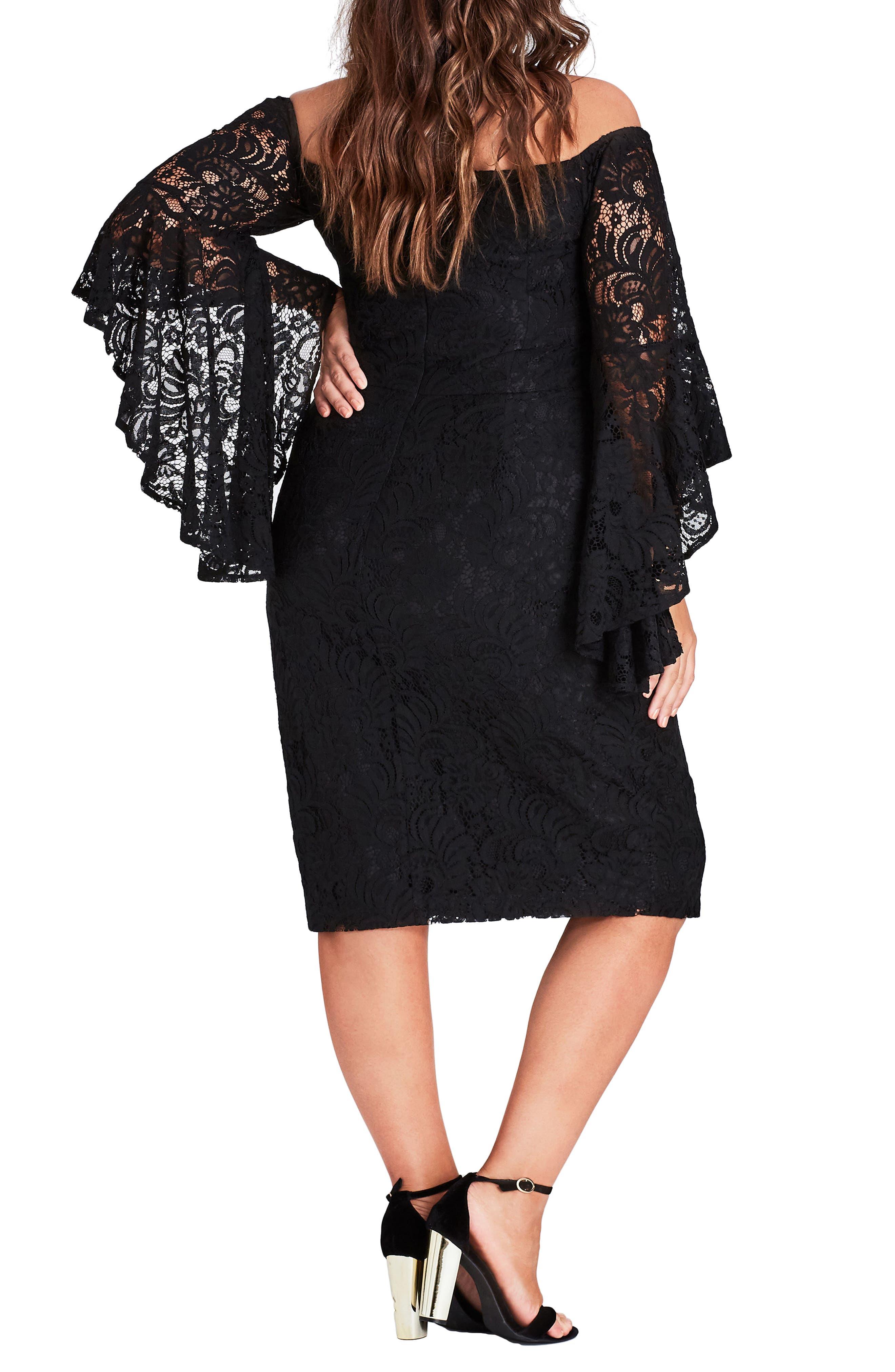 Mystic Lace Dress,                             Alternate thumbnail 2, color,                             Black