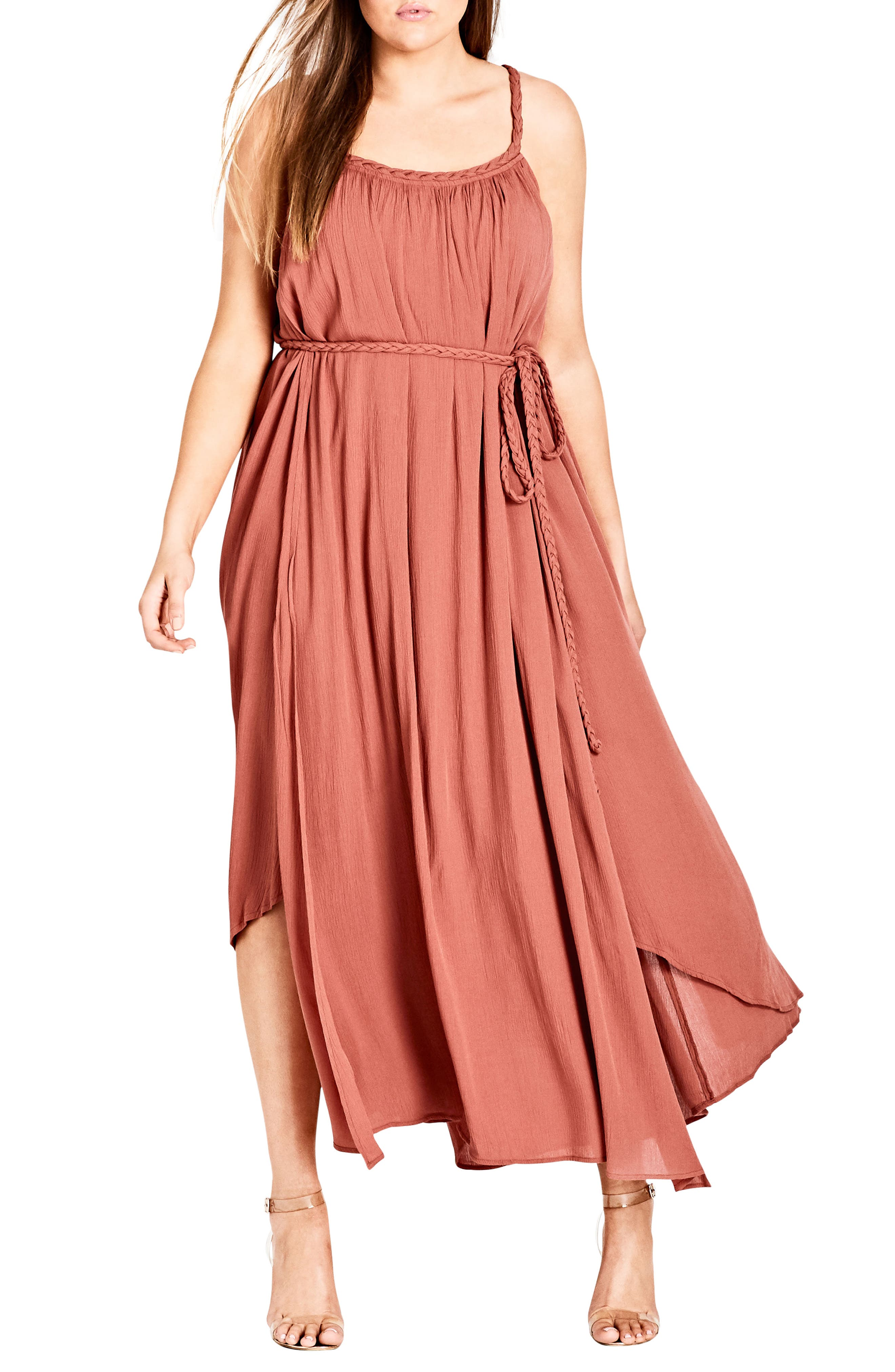 City Chic Happy Feels Maxi Dress (Plus Size)