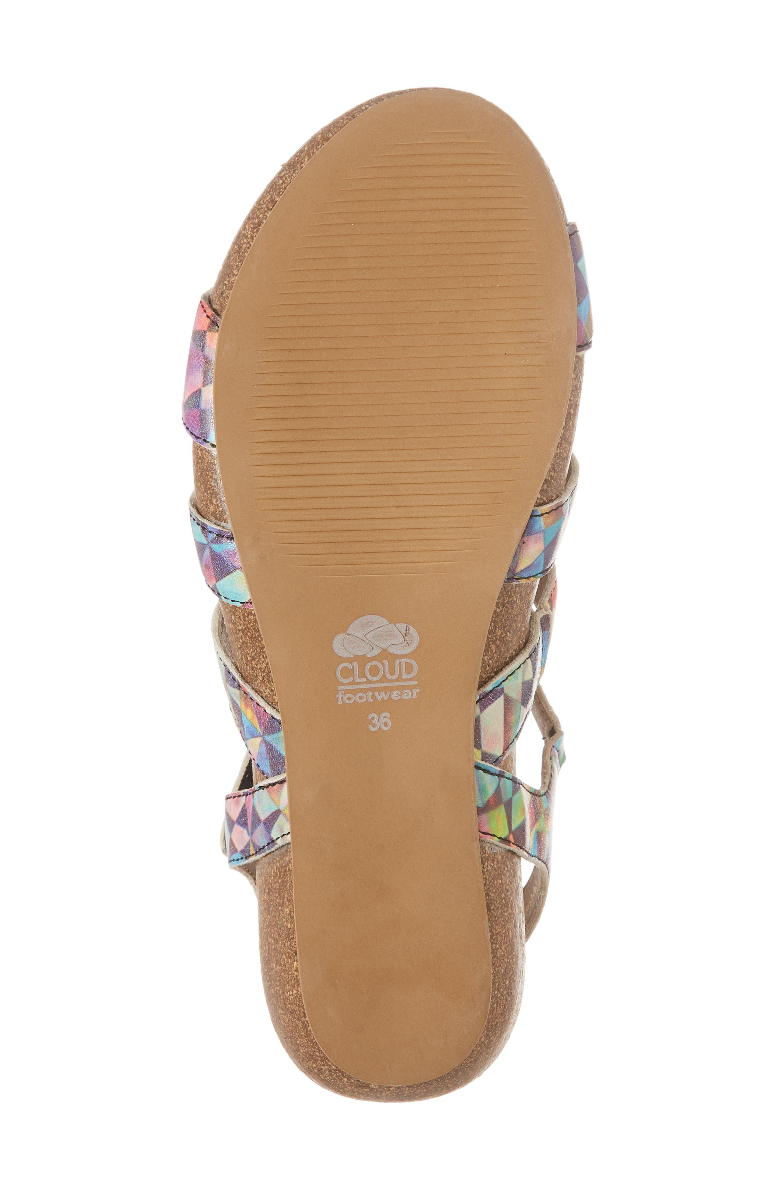 Delta Wedge Sandal,                             Alternate thumbnail 6, color,                             Mystere Leather