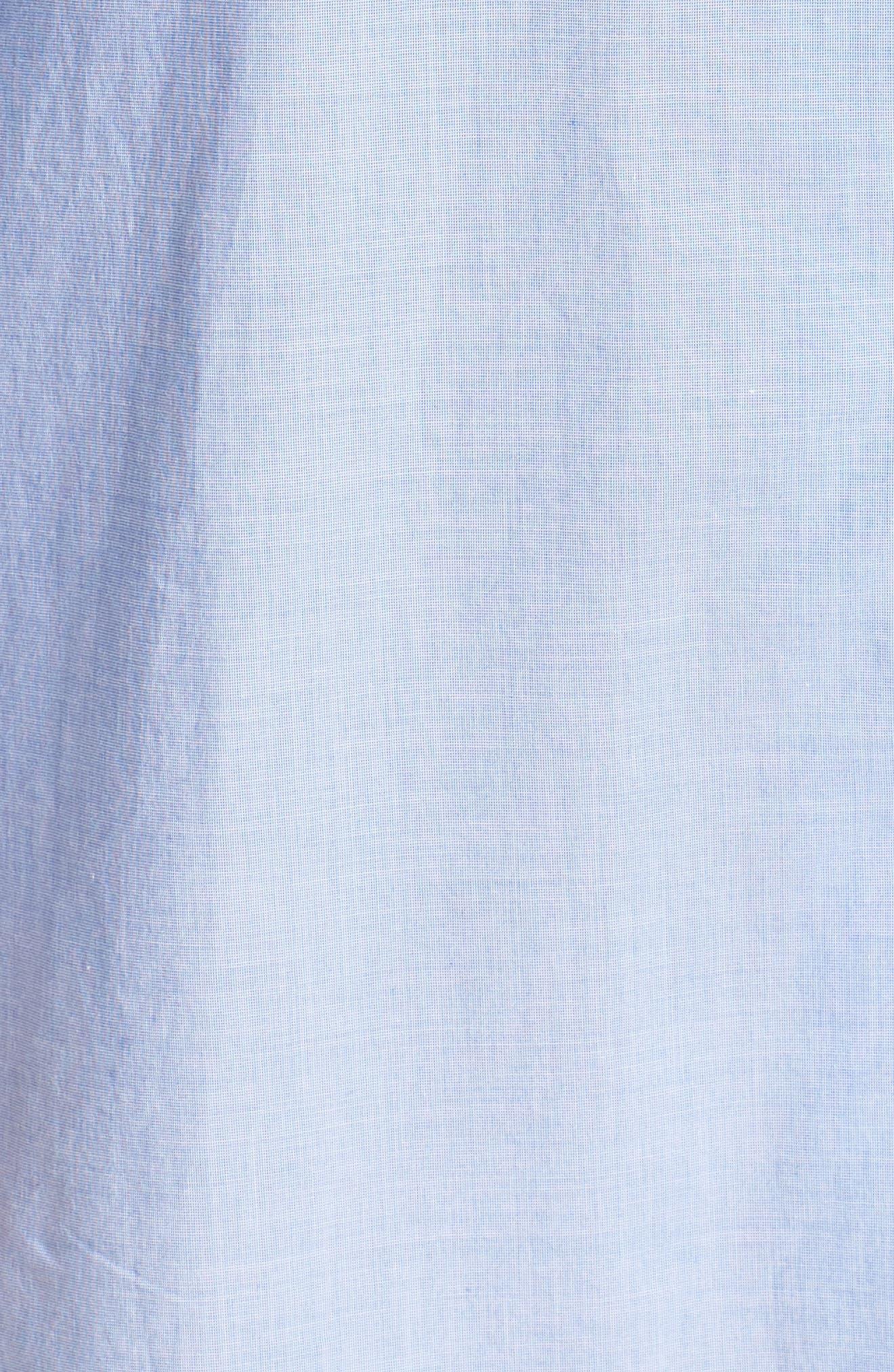 Woven Nightshirt,                             Alternate thumbnail 5, color,                             Hydrangea