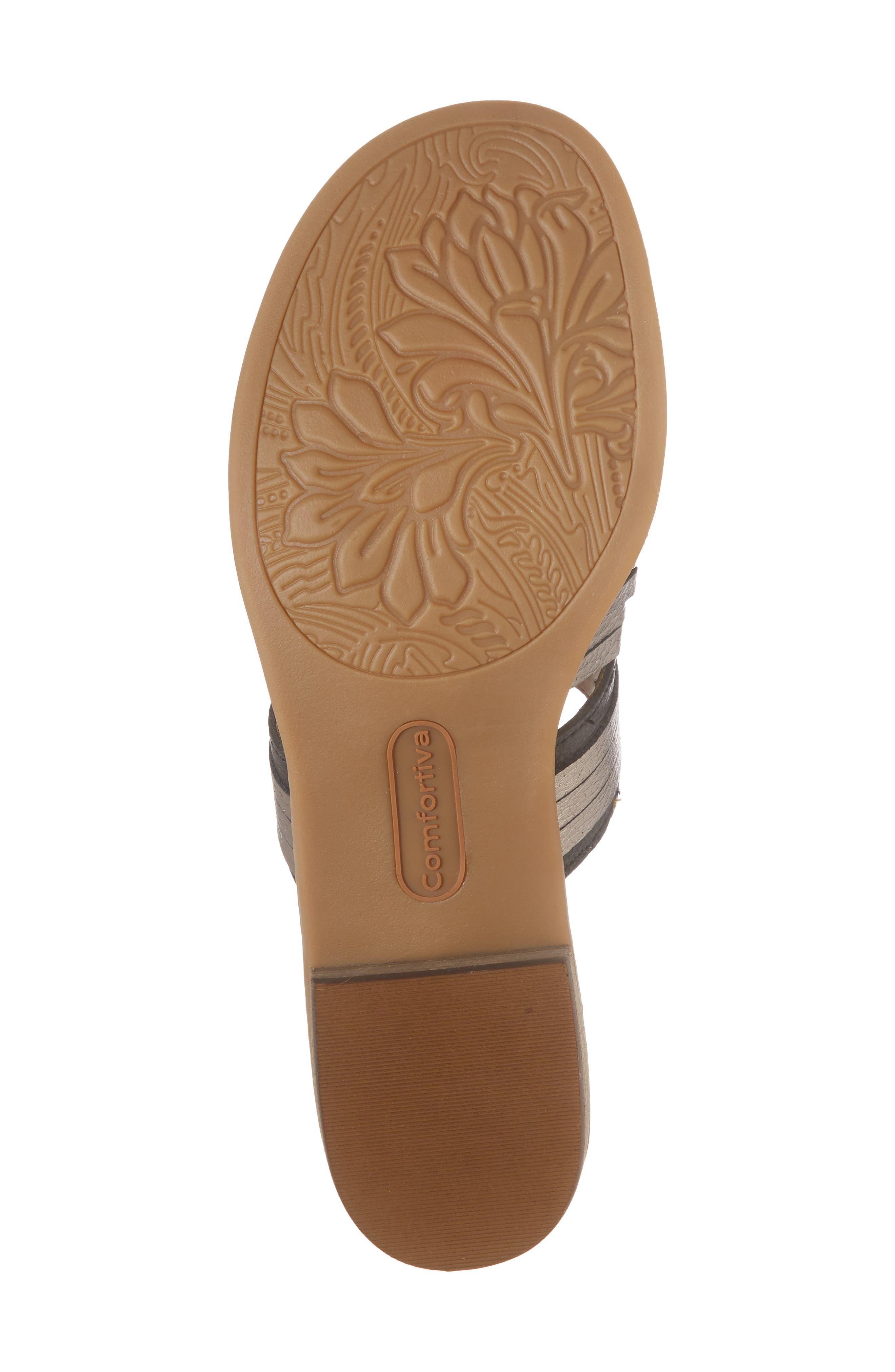 Brileigh Slide Sandal,                             Alternate thumbnail 6, color,                             Black Leather