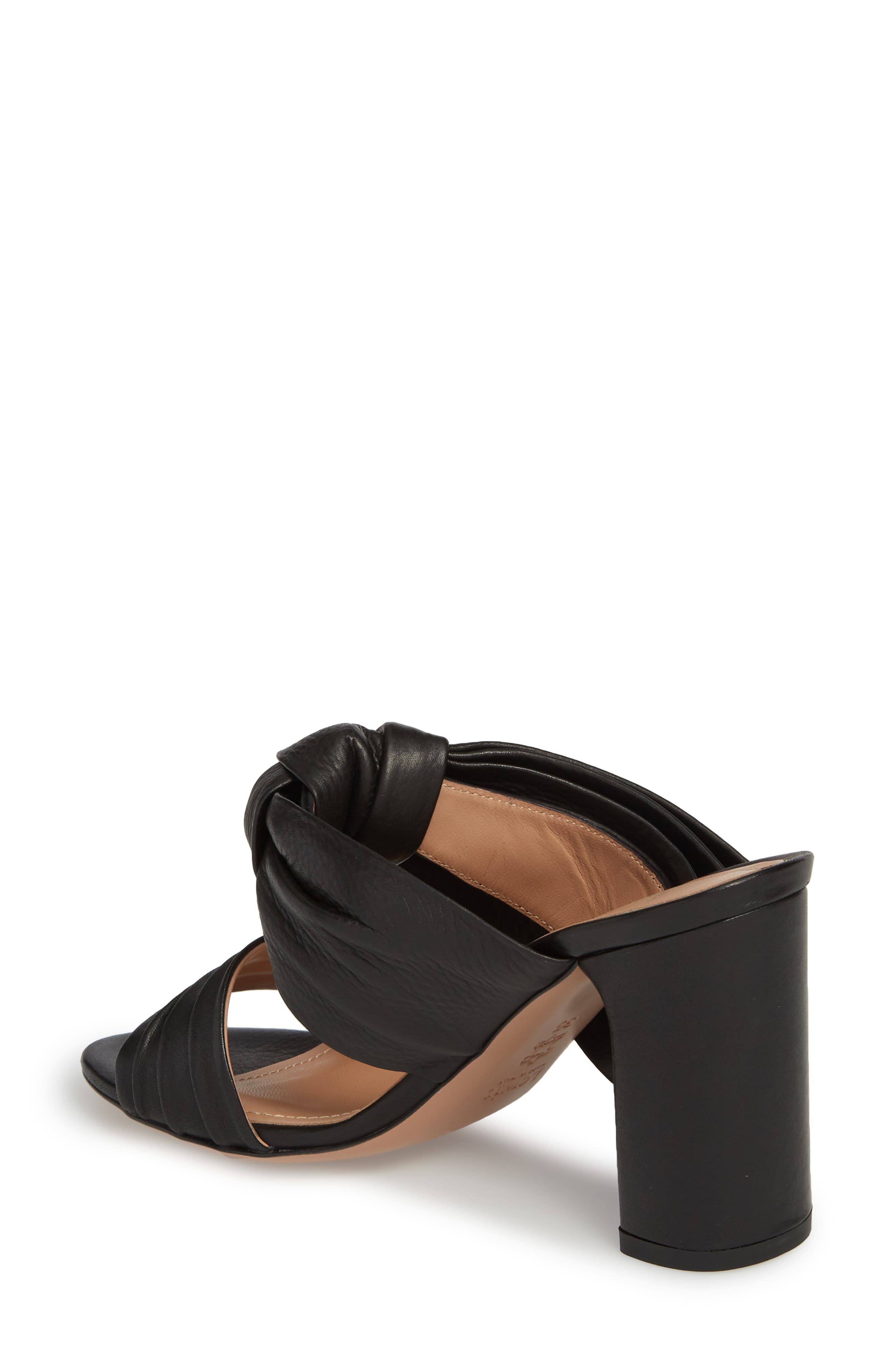 Rosa Knotted Bow Mule,                             Alternate thumbnail 2, color,                             Black Leather