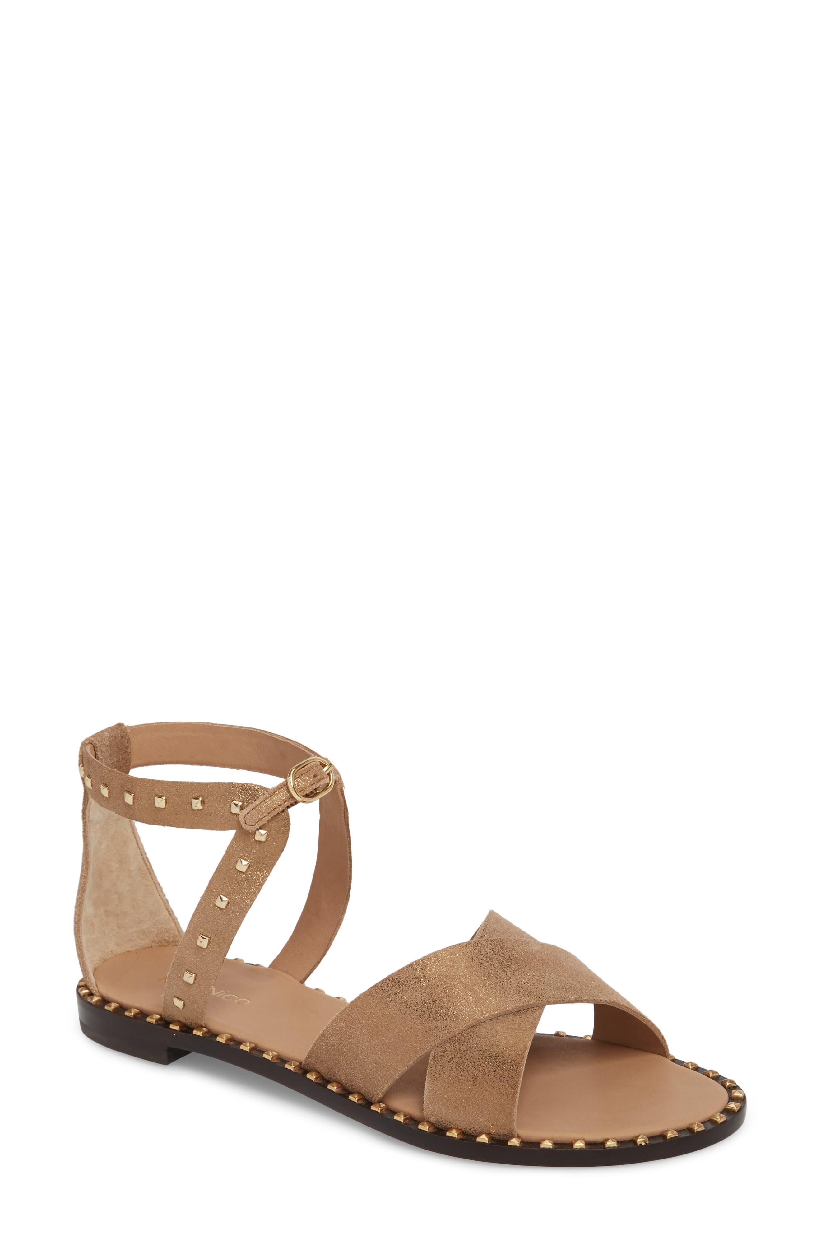 Jada Sandal,                         Main,                         color, Bronze Suede