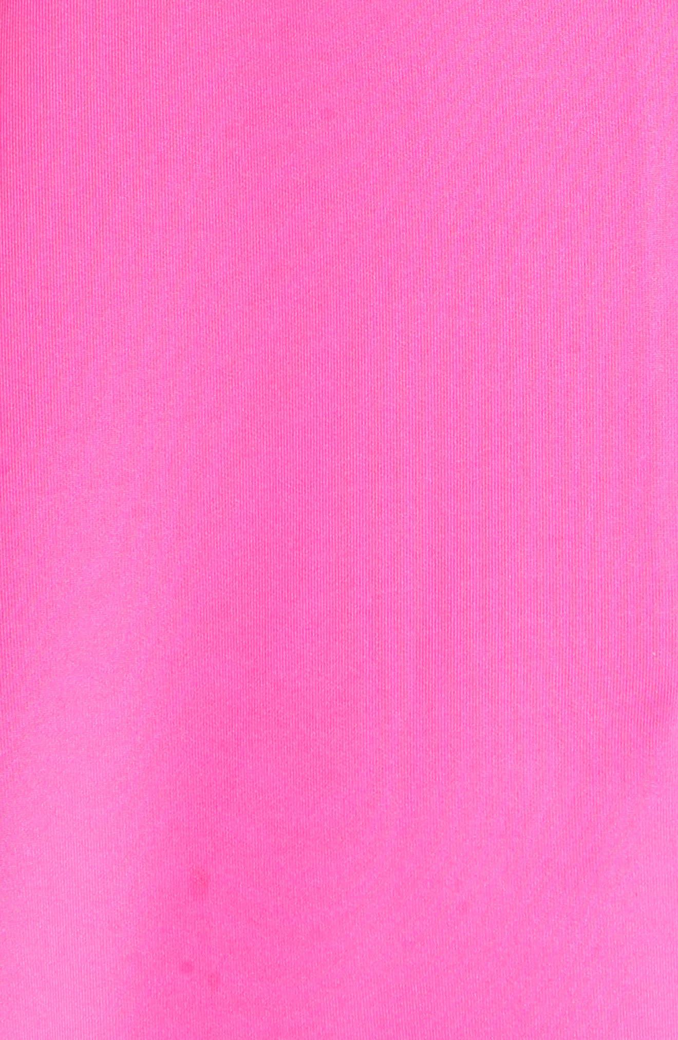 Jannett Laser Cut Ruffle Dress,                             Alternate thumbnail 5, color,                             Neon Pink