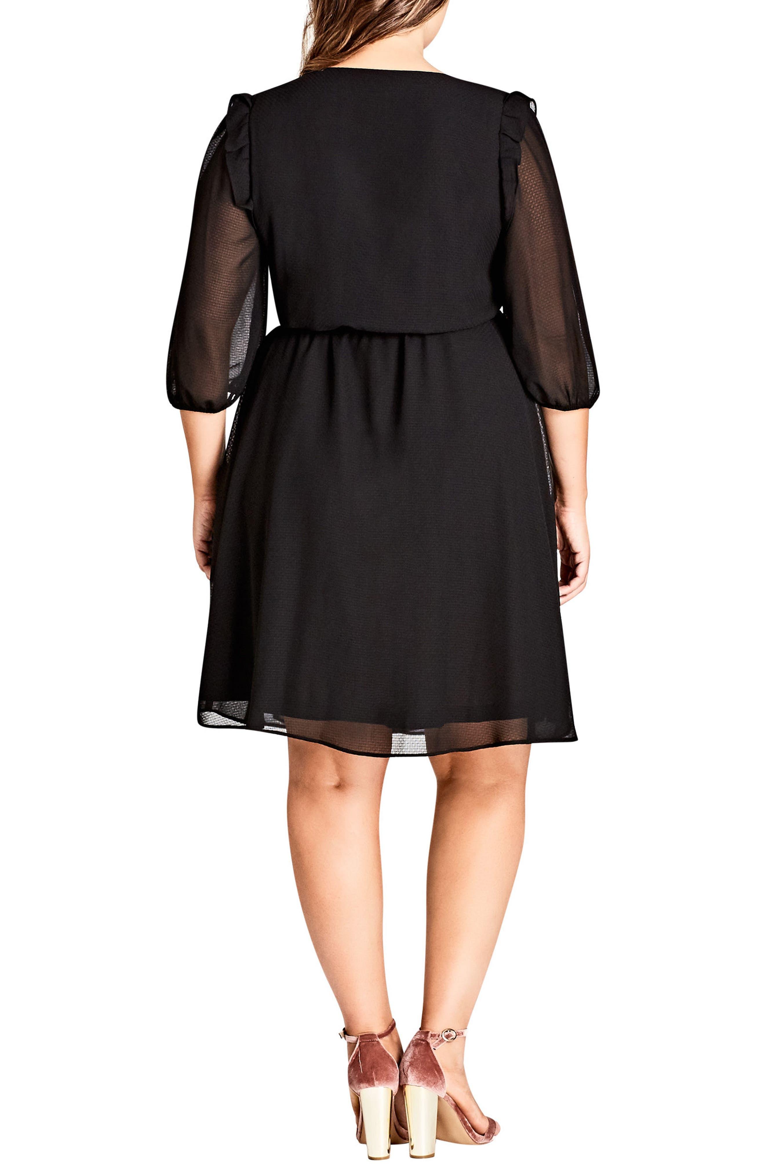Simply So Wrap Dress,                             Alternate thumbnail 2, color,                             Black