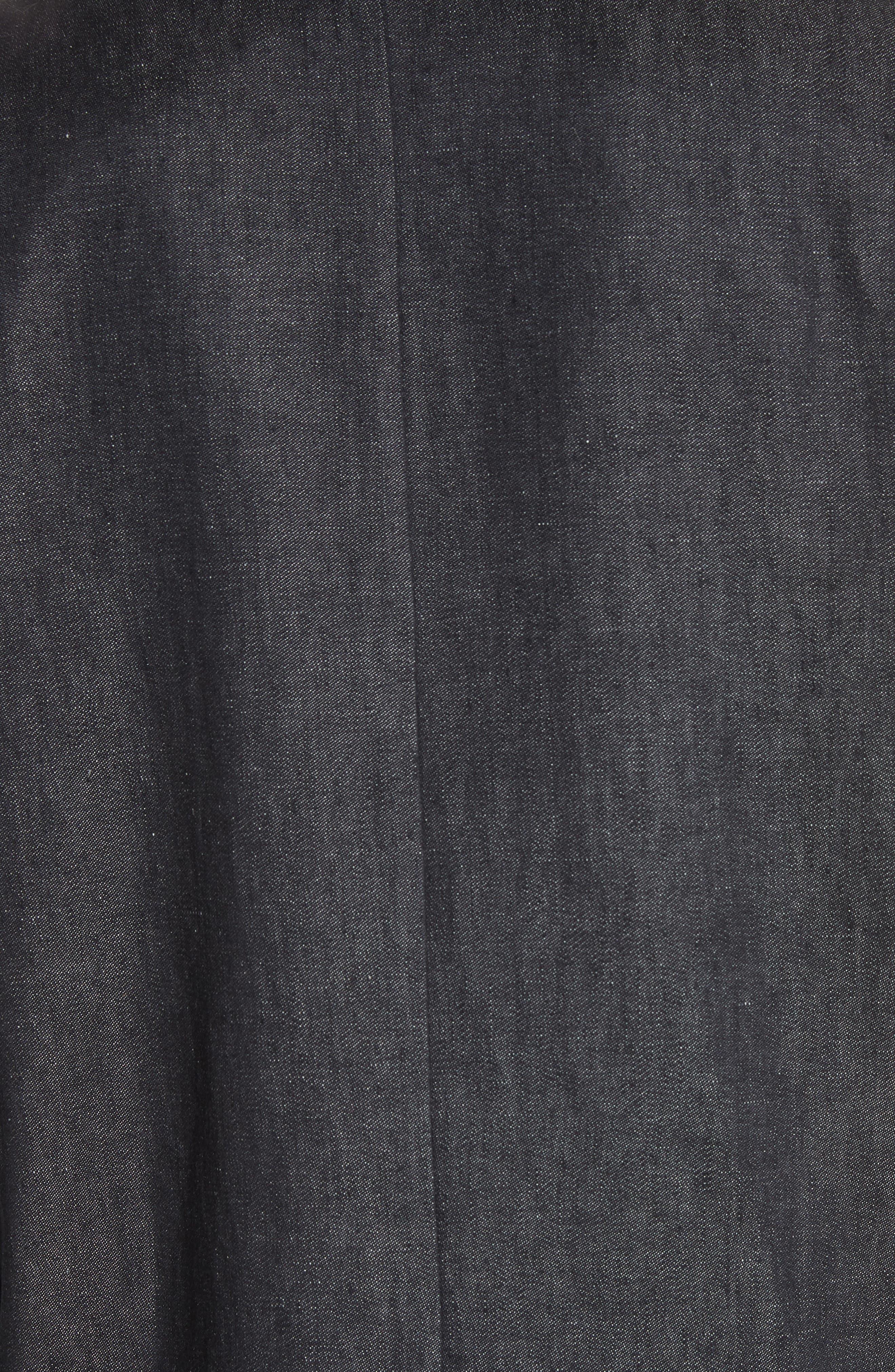 Cannone Linen Coat,                             Alternate thumbnail 5, color,                             Black