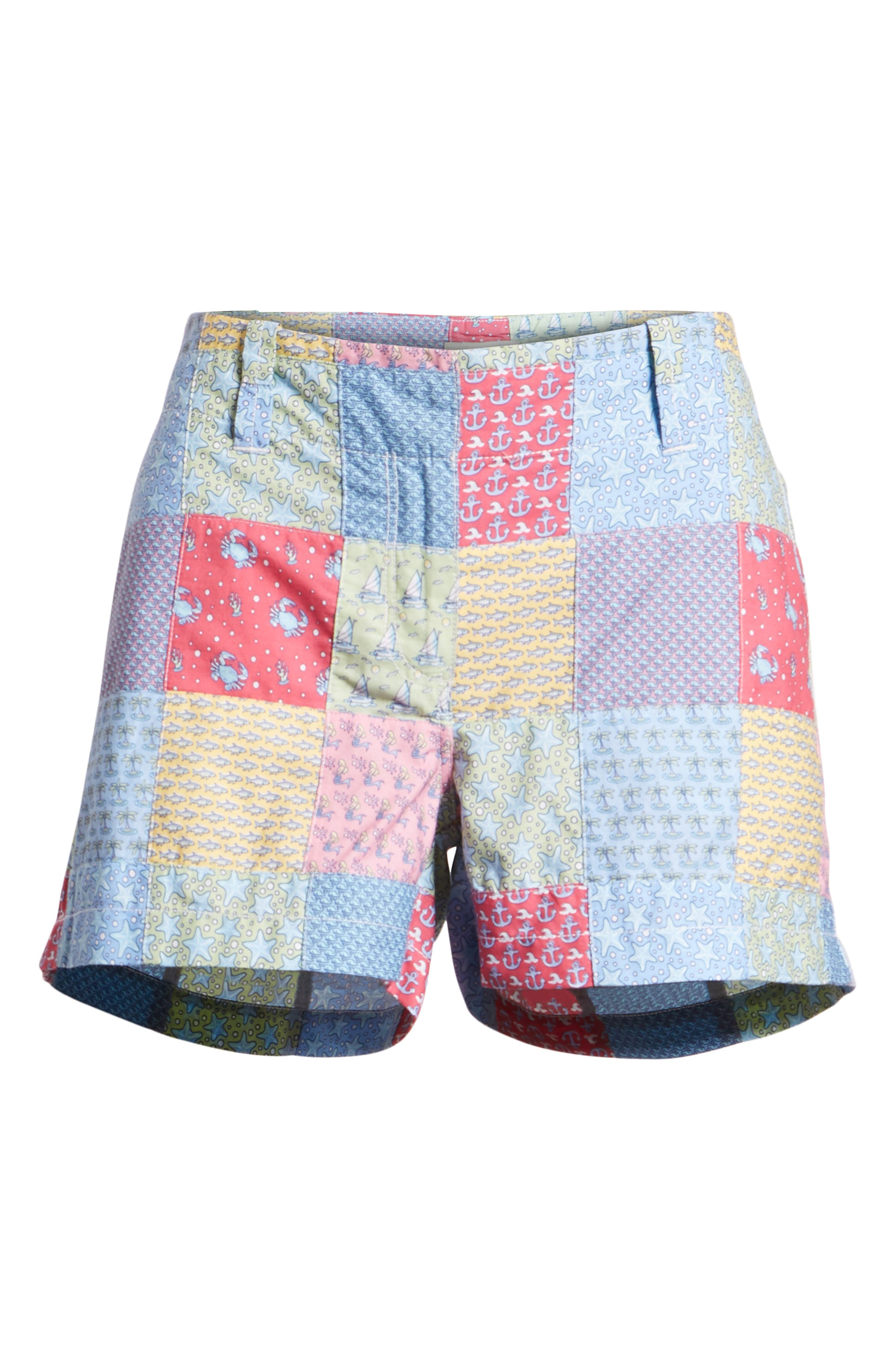 Patchwork Everyday Shorts,                             Alternate thumbnail 6, color,                             Sailors Red