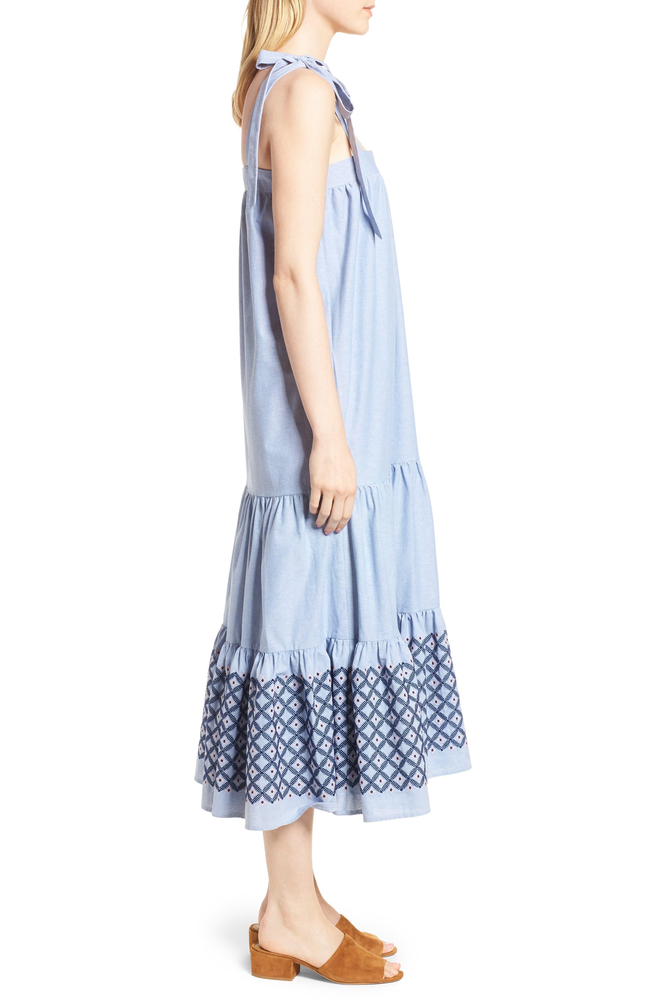 Lucy Dress,                             Alternate thumbnail 3, color,                             Blue