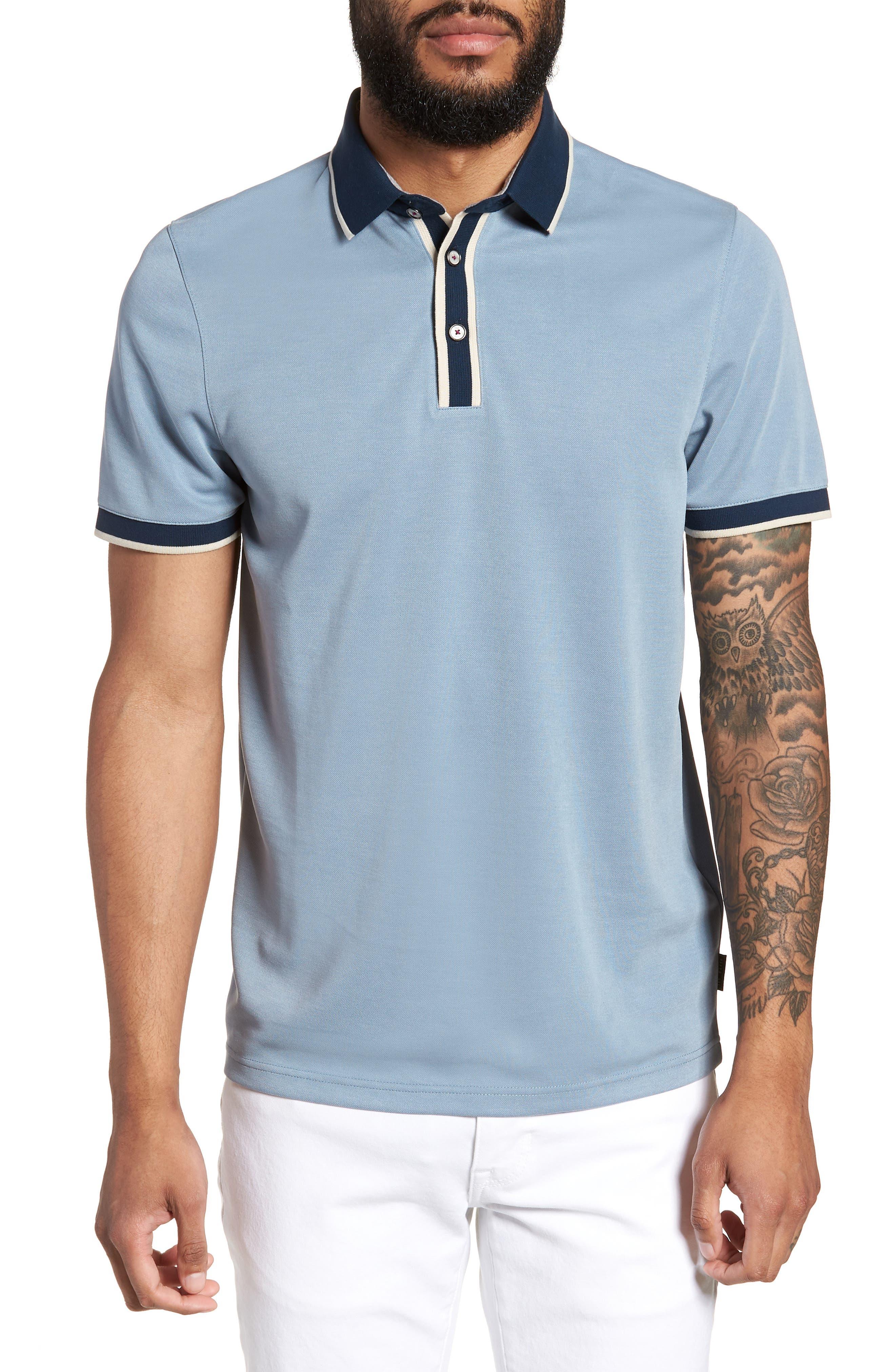 Howl Trim Fit Polo Shirt,                             Main thumbnail 1, color,                             Blue