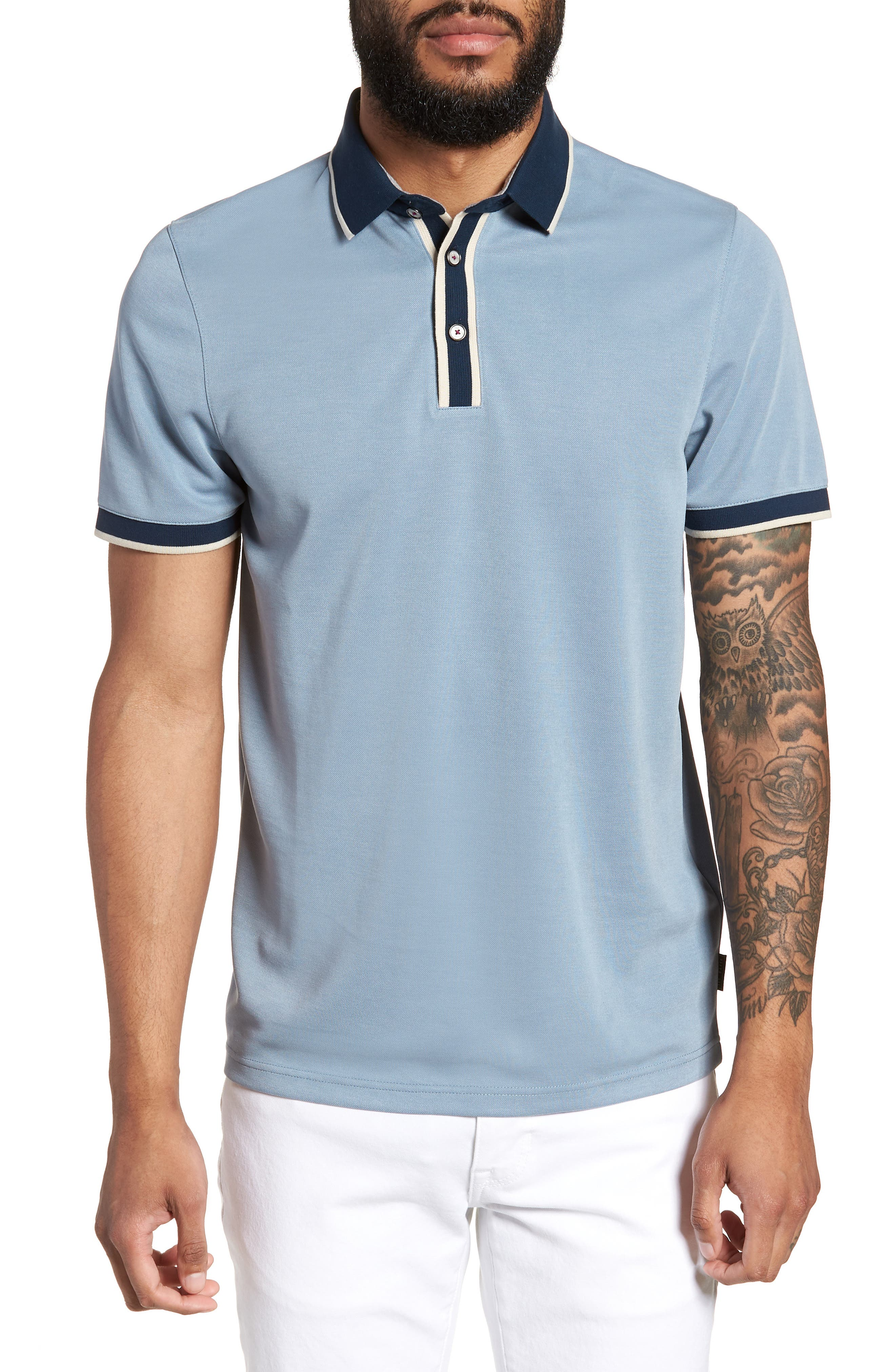 Main Image - Ted Baker London Howl Trim Fit Polo Shirt