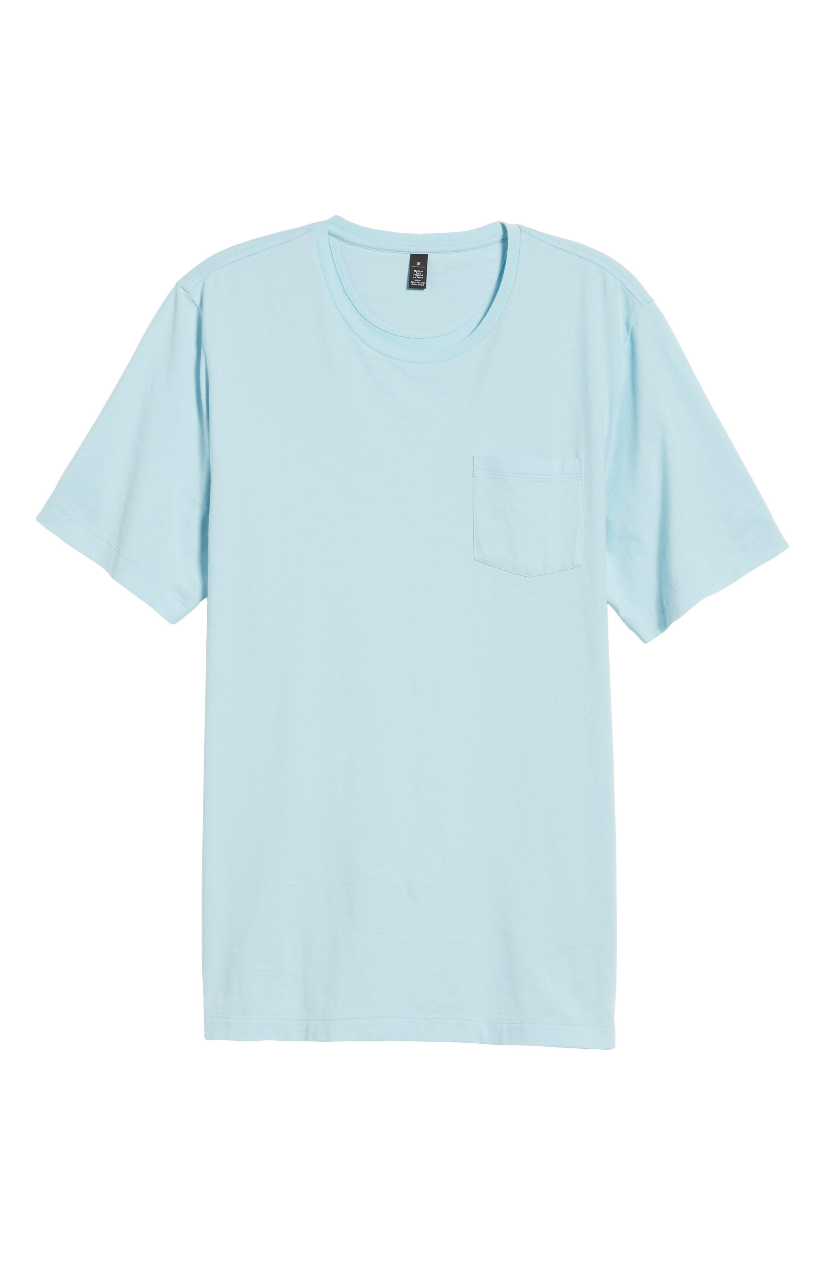 Brushed Pima Cotton T-Shirt,                             Alternate thumbnail 6, color,                             Blue Orydalis