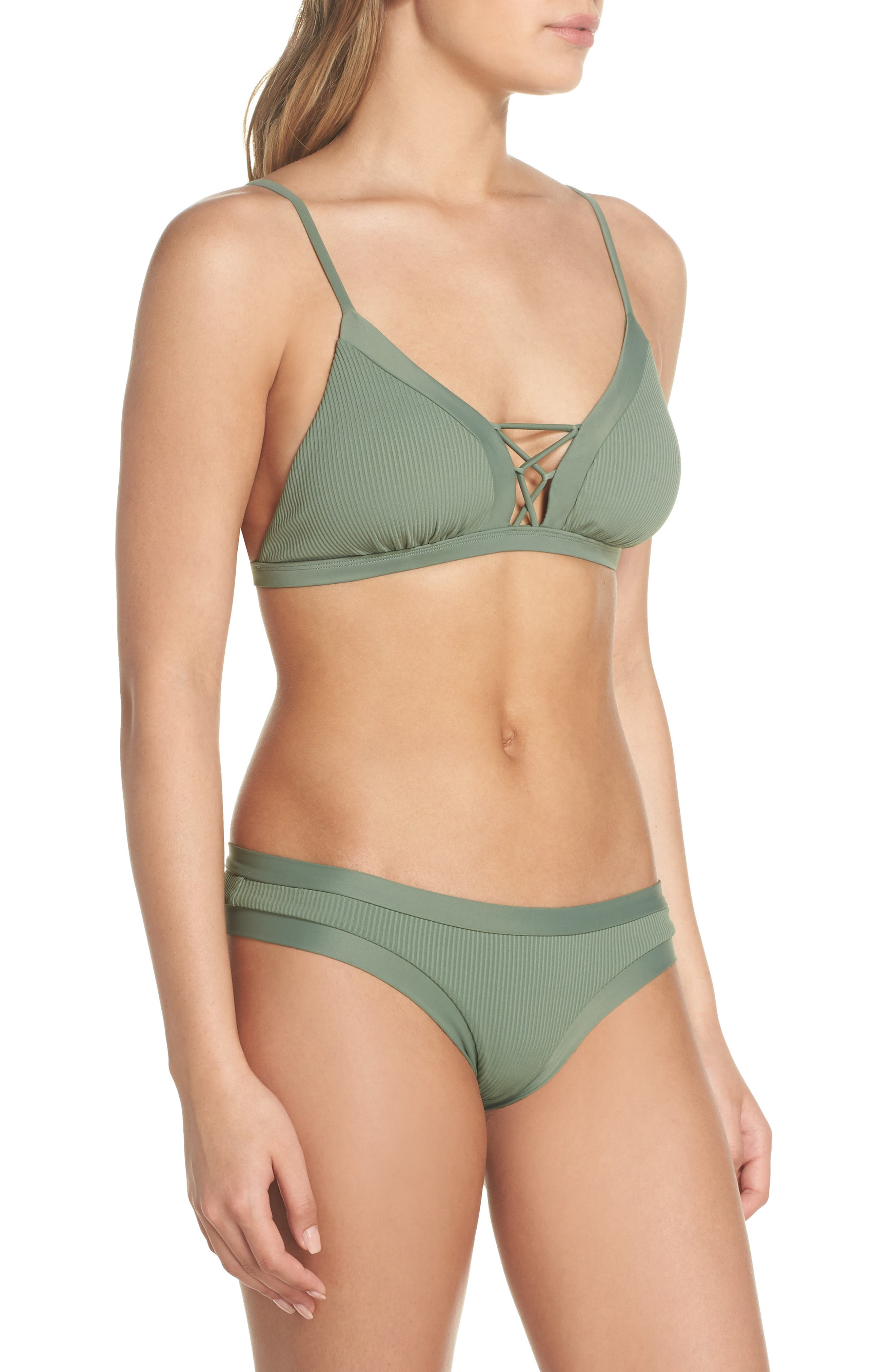 Ibiza Phoebe Bikini Top,                             Alternate thumbnail 8, color,                             Cactus