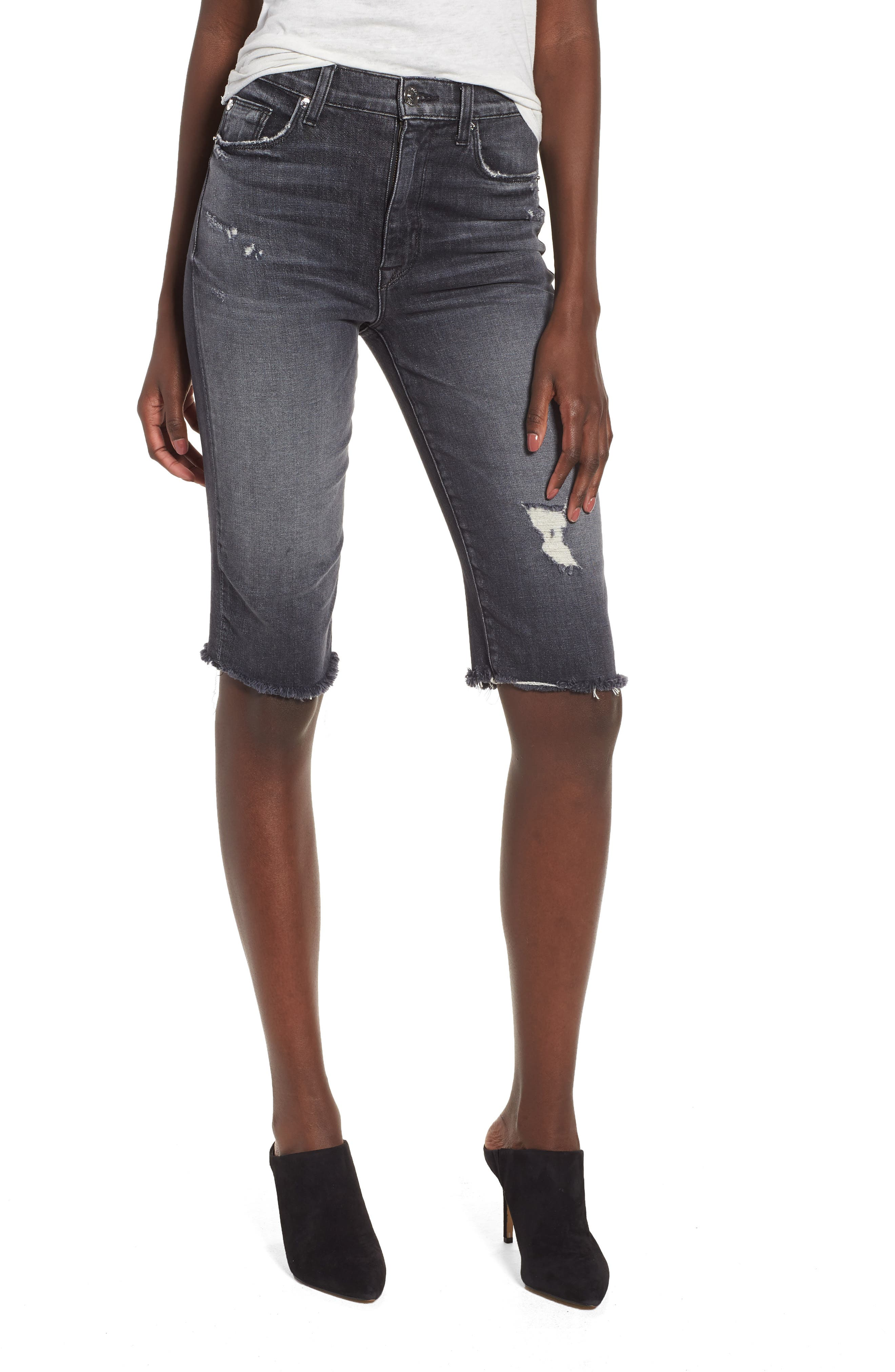 Zoeey High Waist Cutoff Boyfriend Shorts,                         Main,                         color, Malice