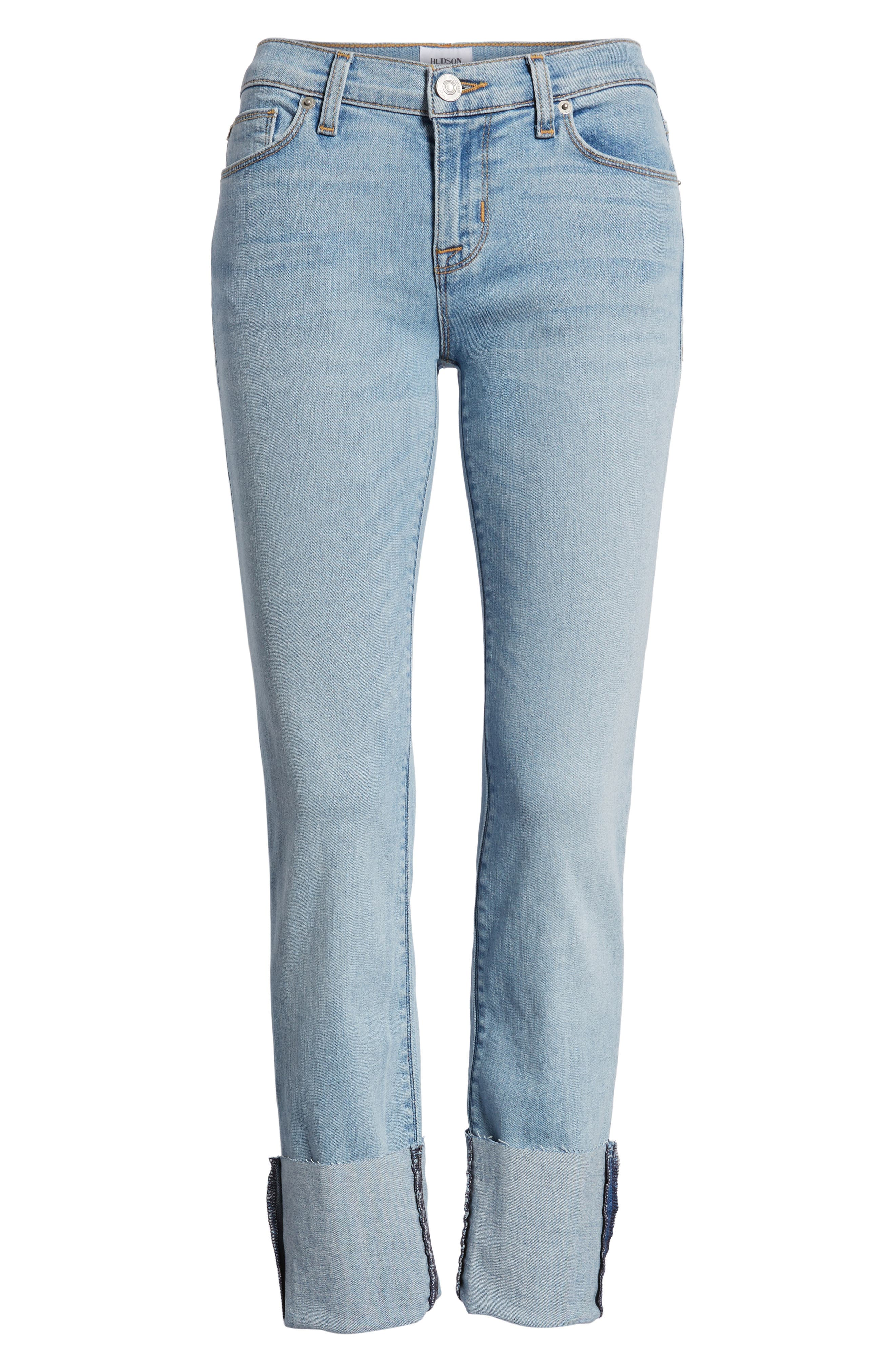 Alternate Image 7  - Hudson Jeans Tally Cuffed Crop Skinny Jeans