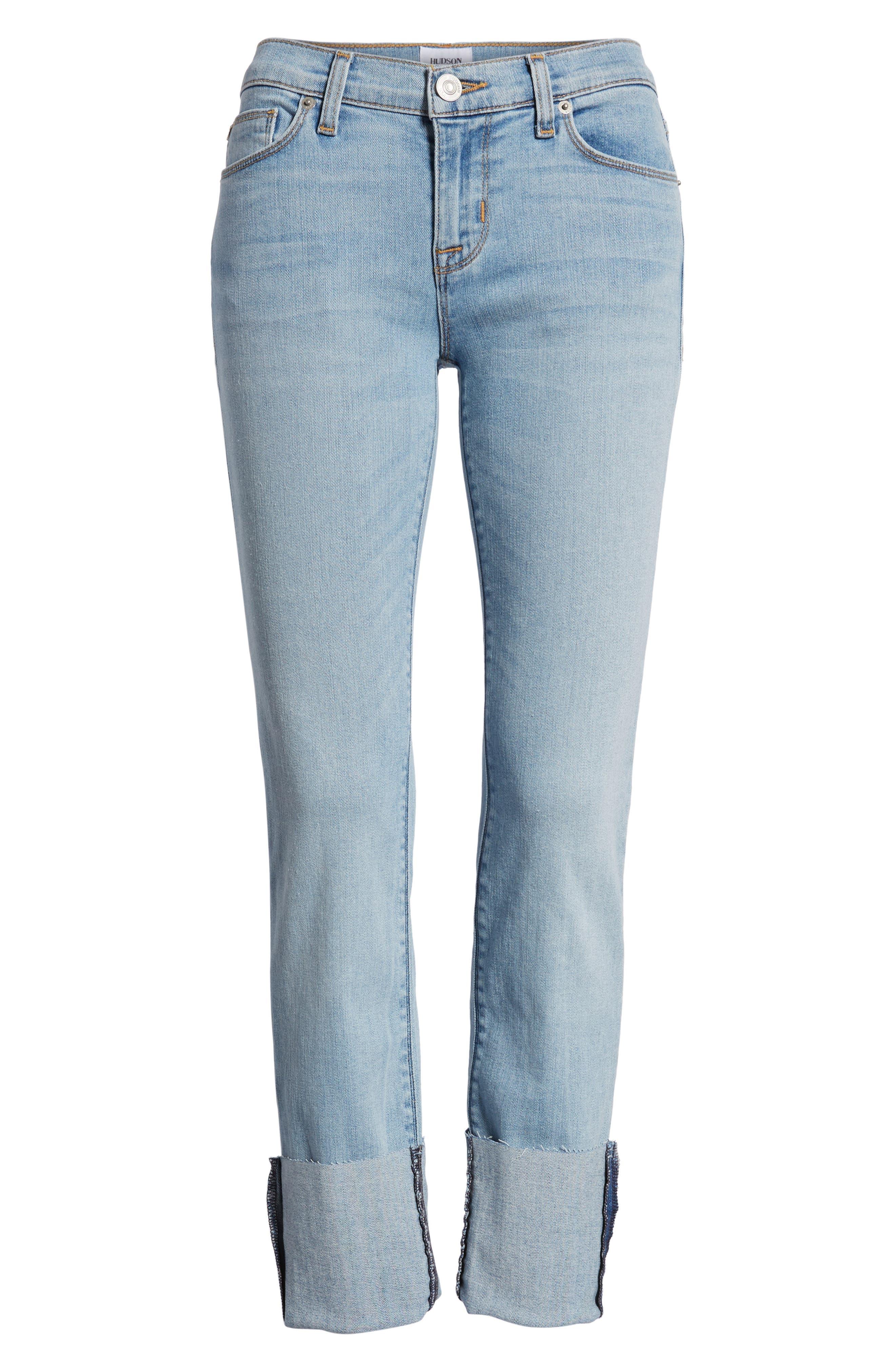 Tally Cuffed Crop Skinny Jeans,                             Alternate thumbnail 7, color,                             Gemini