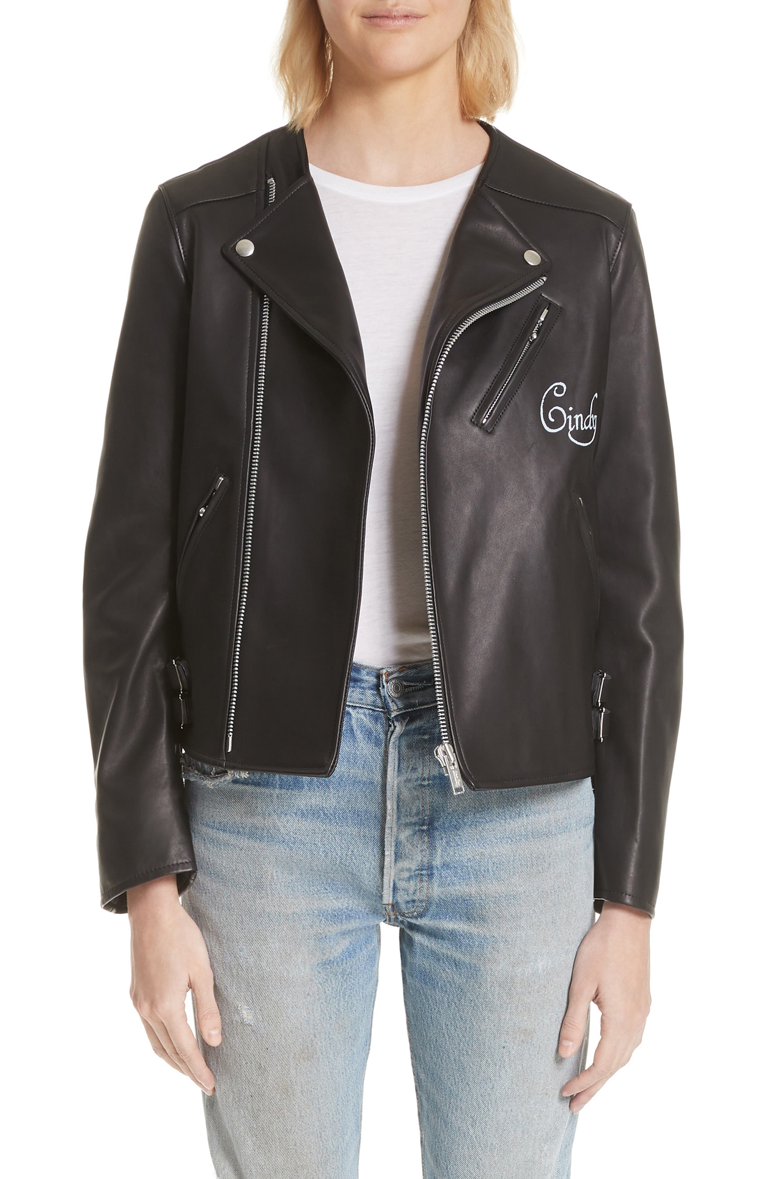 Undercover Cindy Leather Moto Jacket