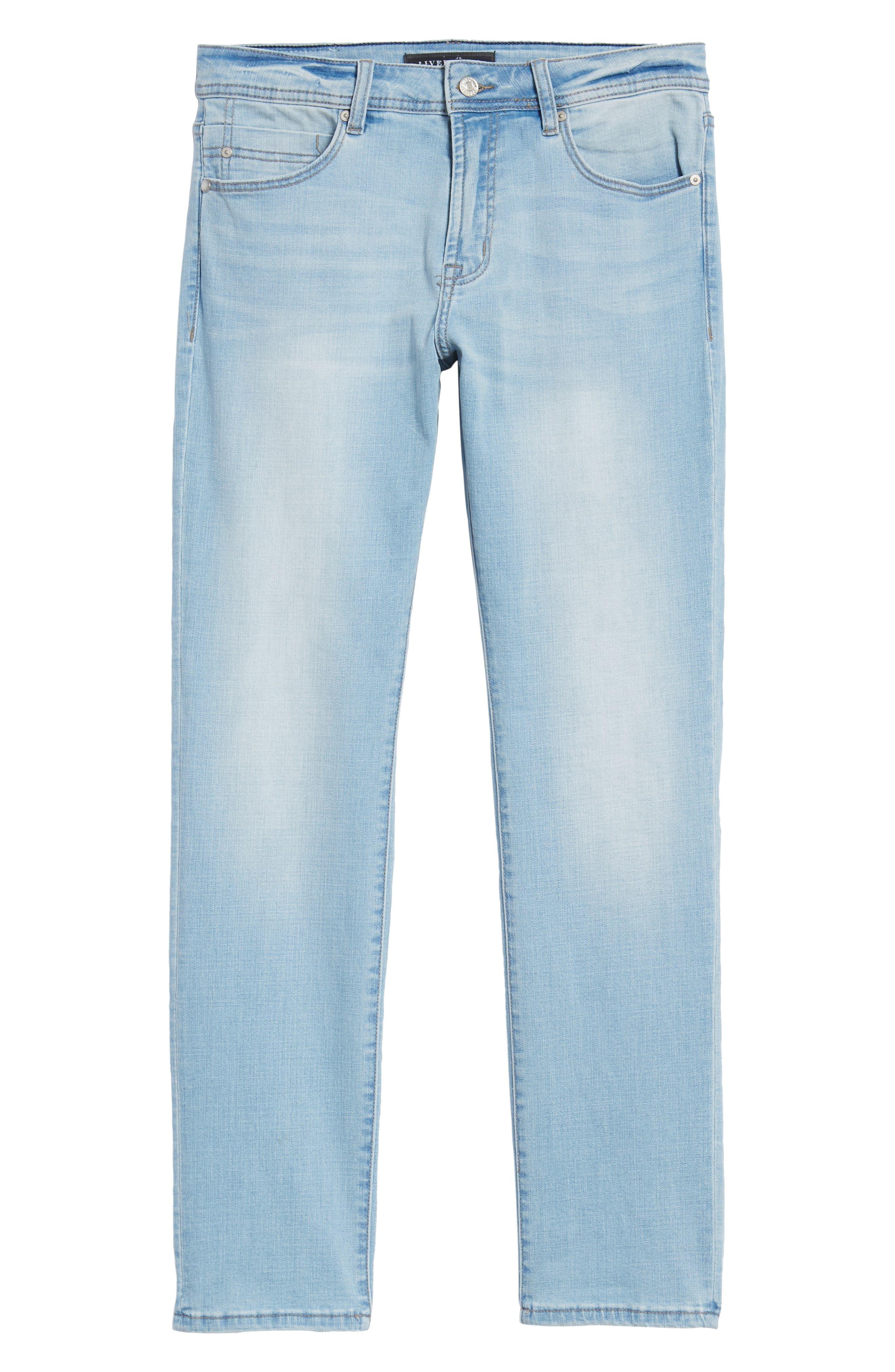 Jeans Co. Straight Leg Jeans,                             Alternate thumbnail 6, color,                             Riverside Light