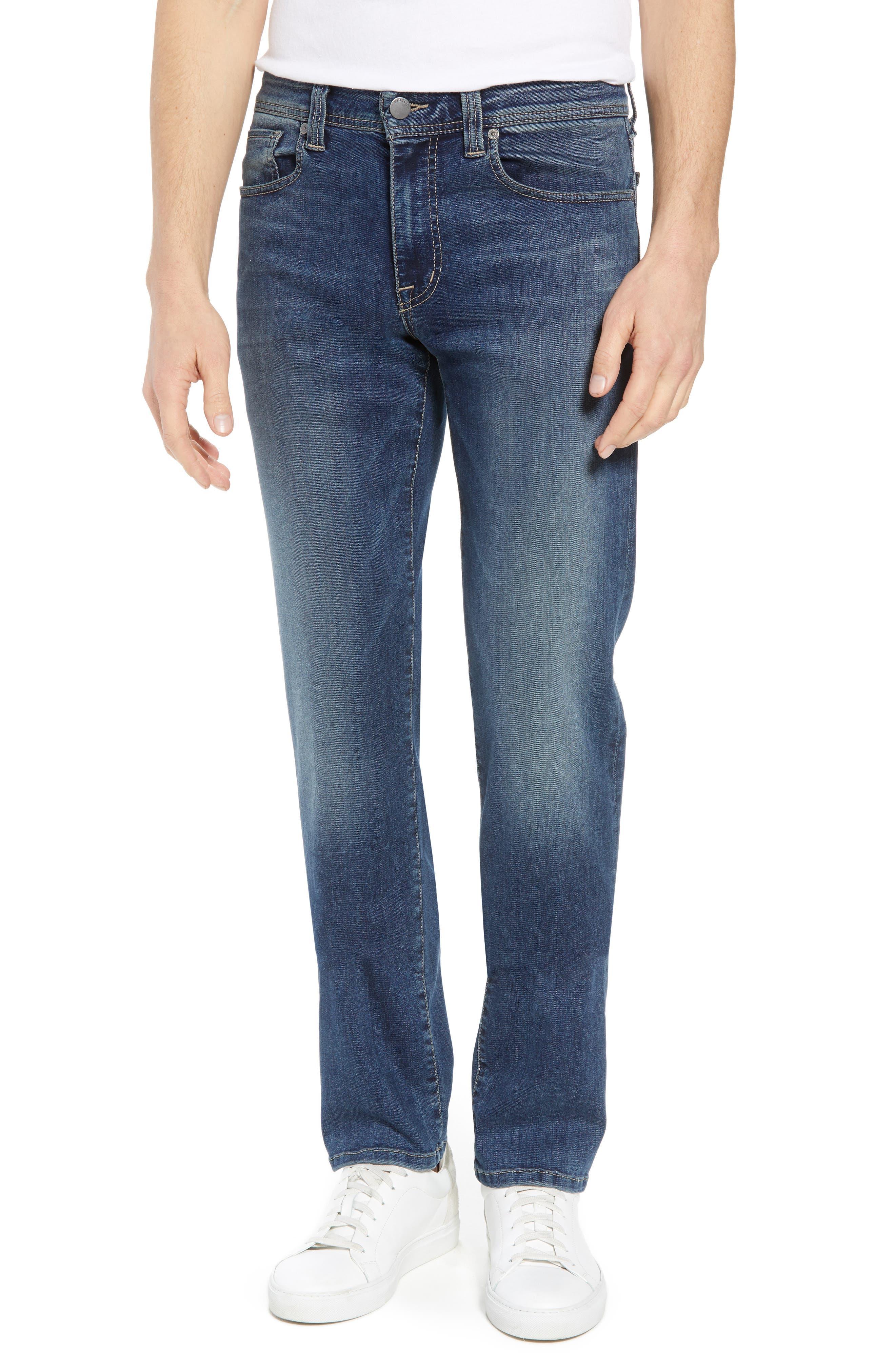 Jimmy Slim Straight Leg Jeans,                             Main thumbnail 1, color,                             Satori Blue