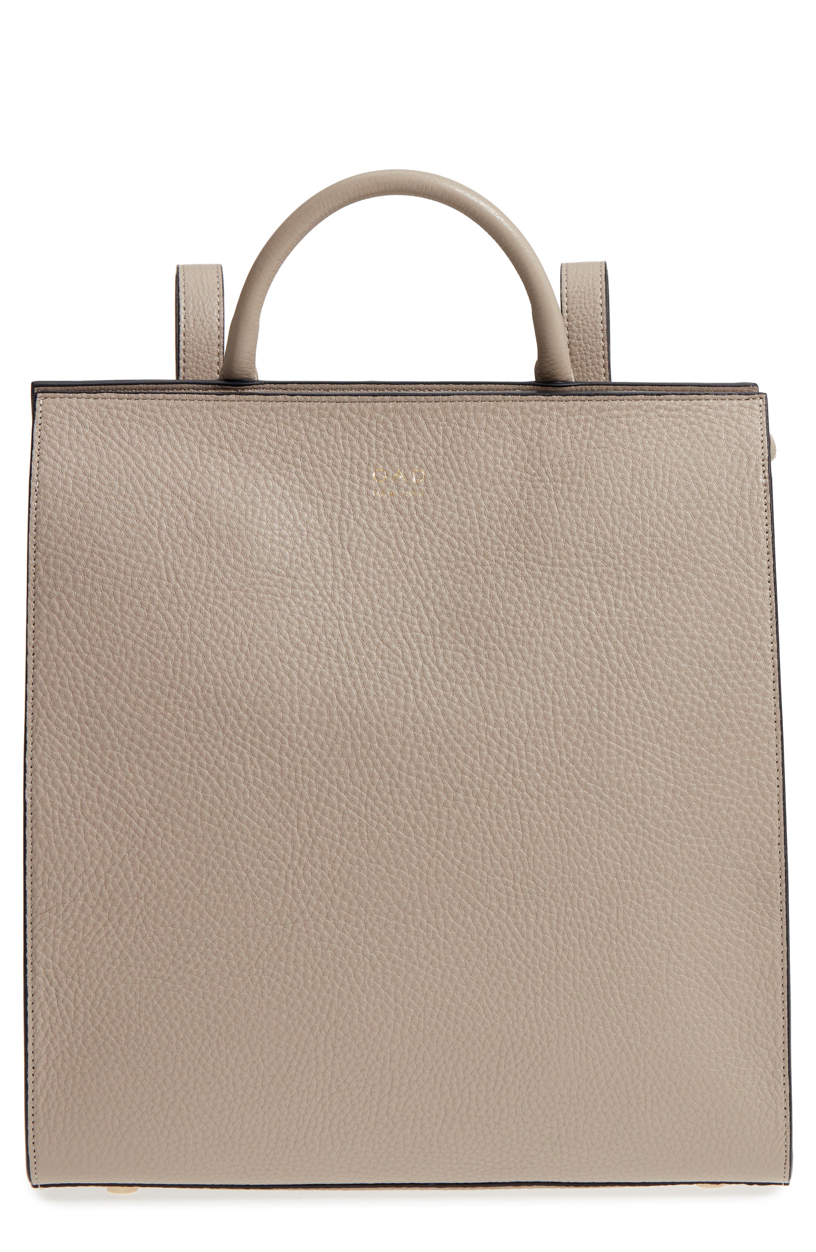 Arc Leather Backpack,                         Main,                         color, Taupe