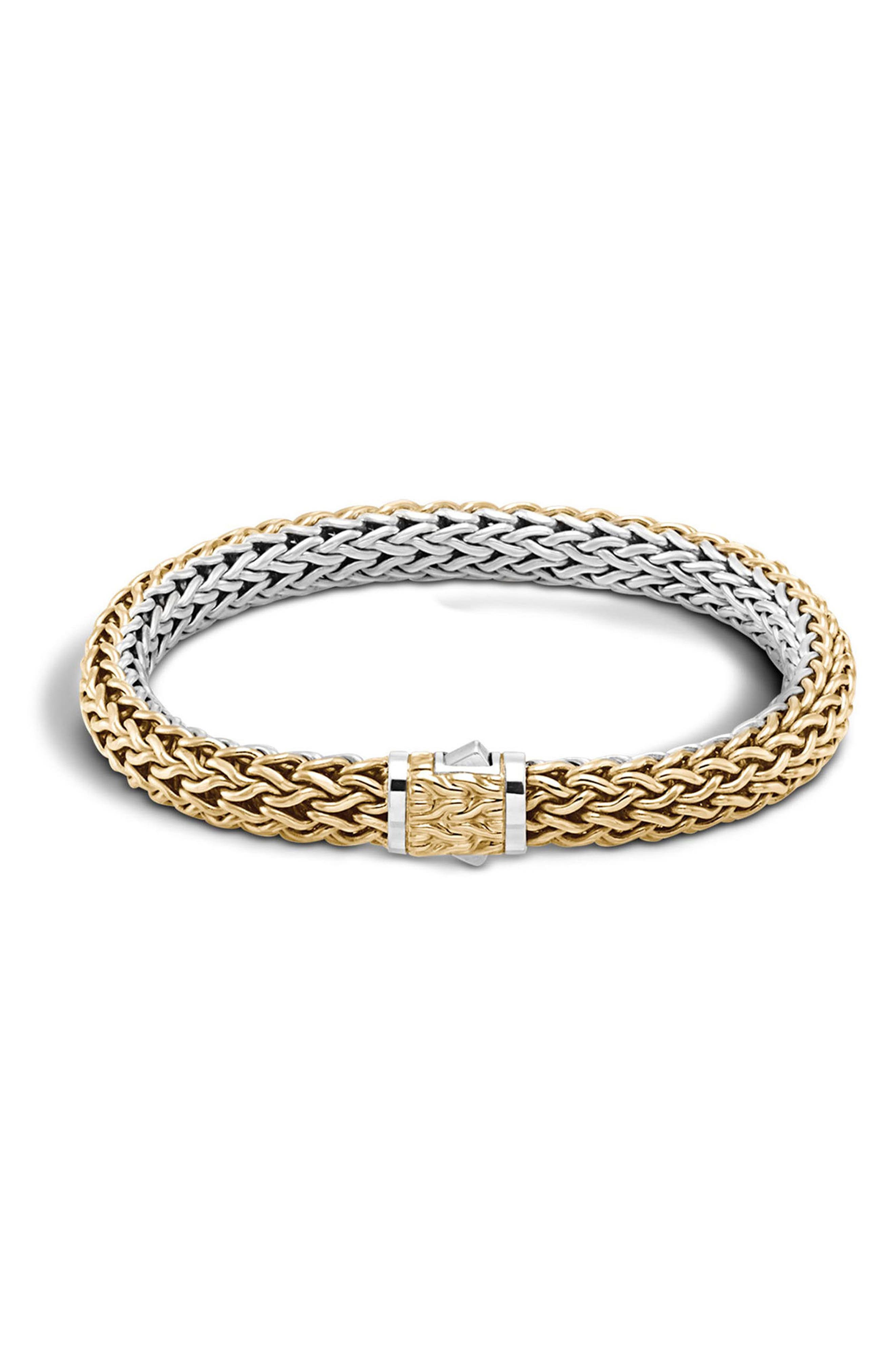 Reversible Classic Chain Bracelet,                         Main,                         color, Silver/ Gold