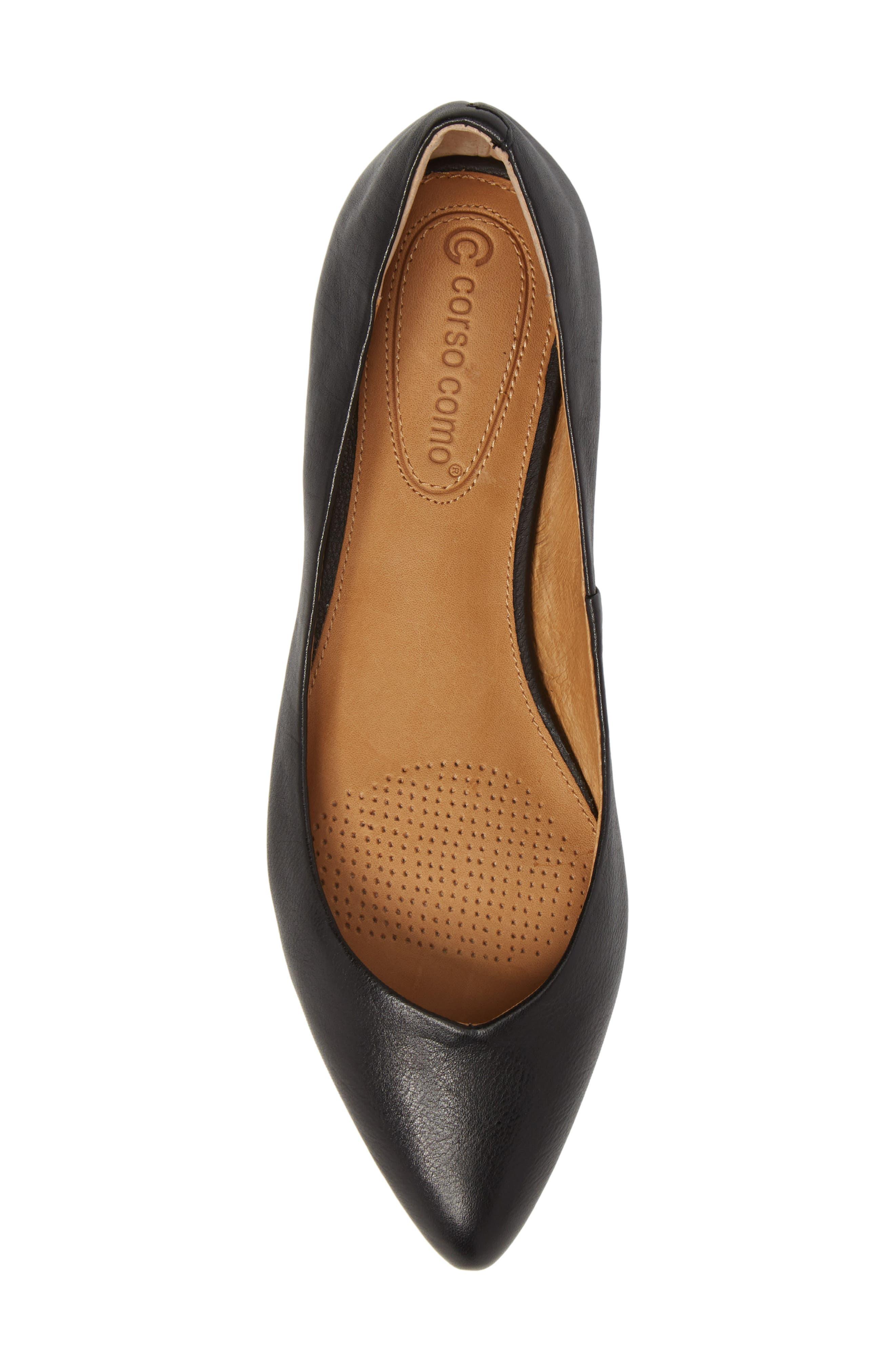 Jullia Flat,                             Alternate thumbnail 5, color,                             Black Leather