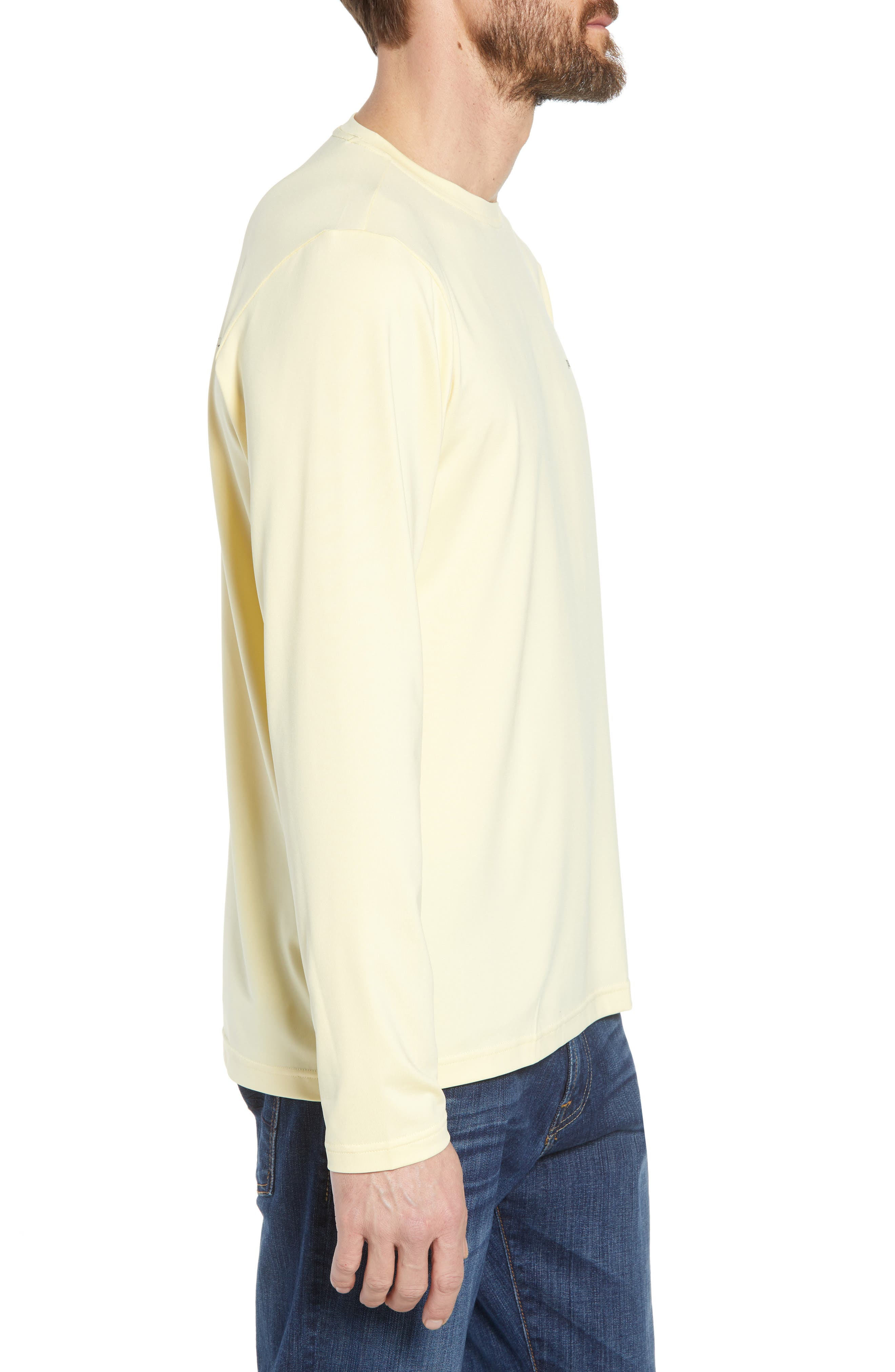 Tech Fish Graphic Long Sleeve T-Shirt,                             Alternate thumbnail 3, color,                             Lucky Fly/ Crest Yellow